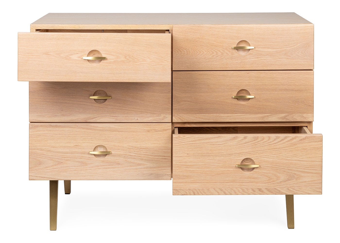As shown: Crawford Chest of 6 Drawers