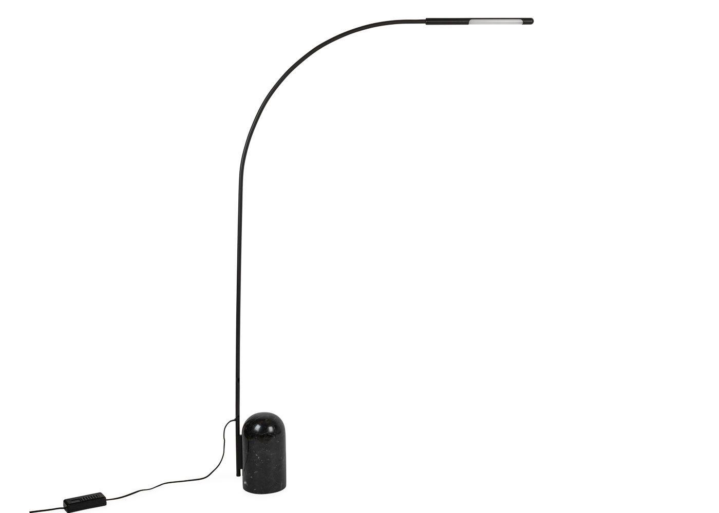As shown: Contour LED Floor Lamp Black.