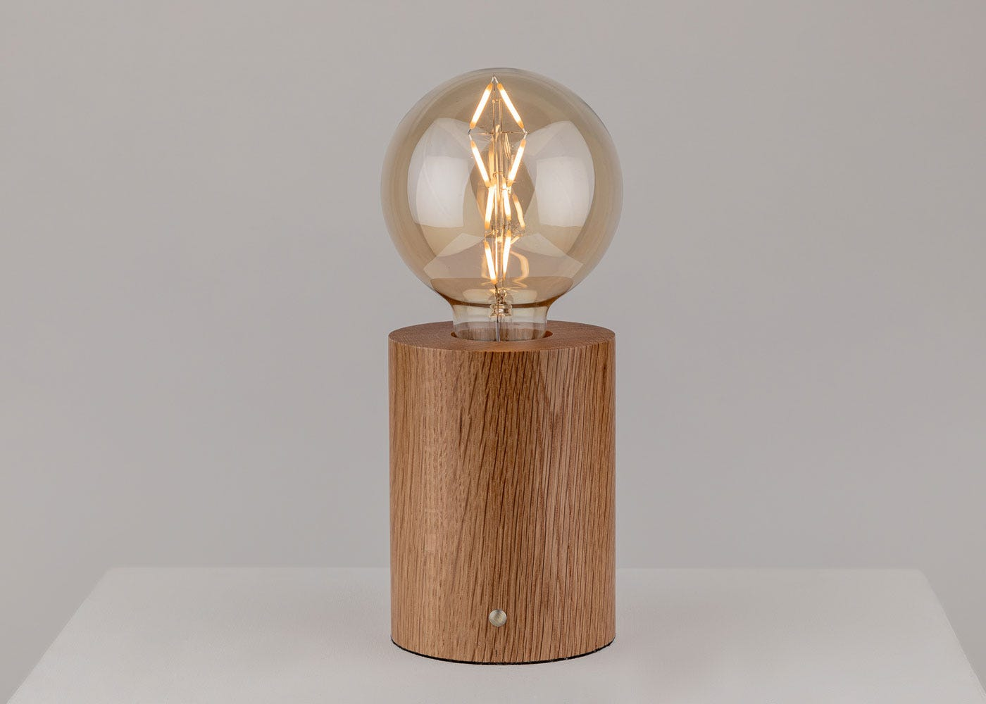 Bristol Touch Lamp Oak - on