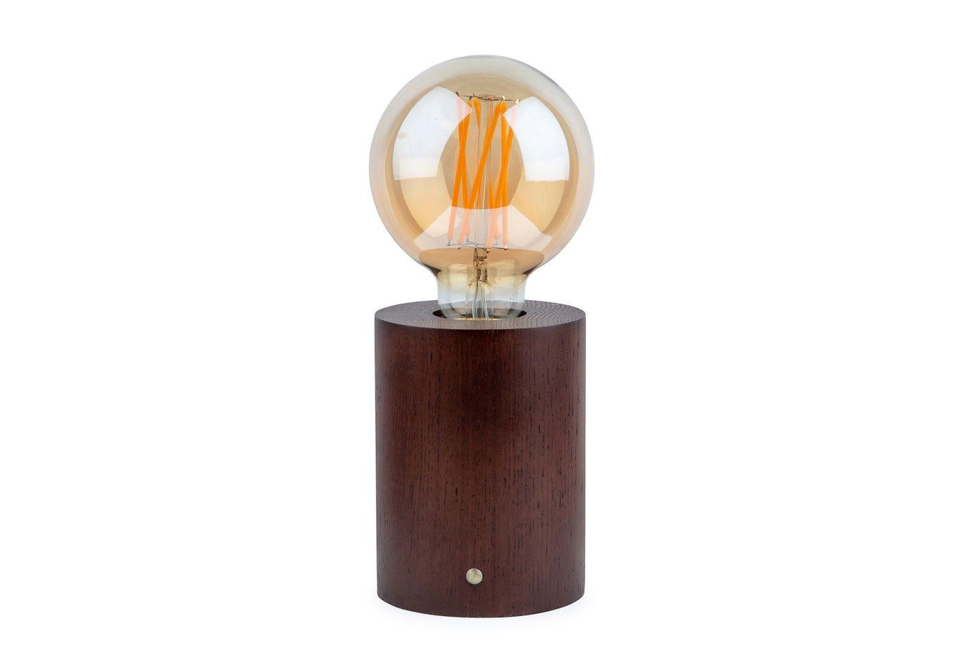 Bristol Touch Lamp Walnut
