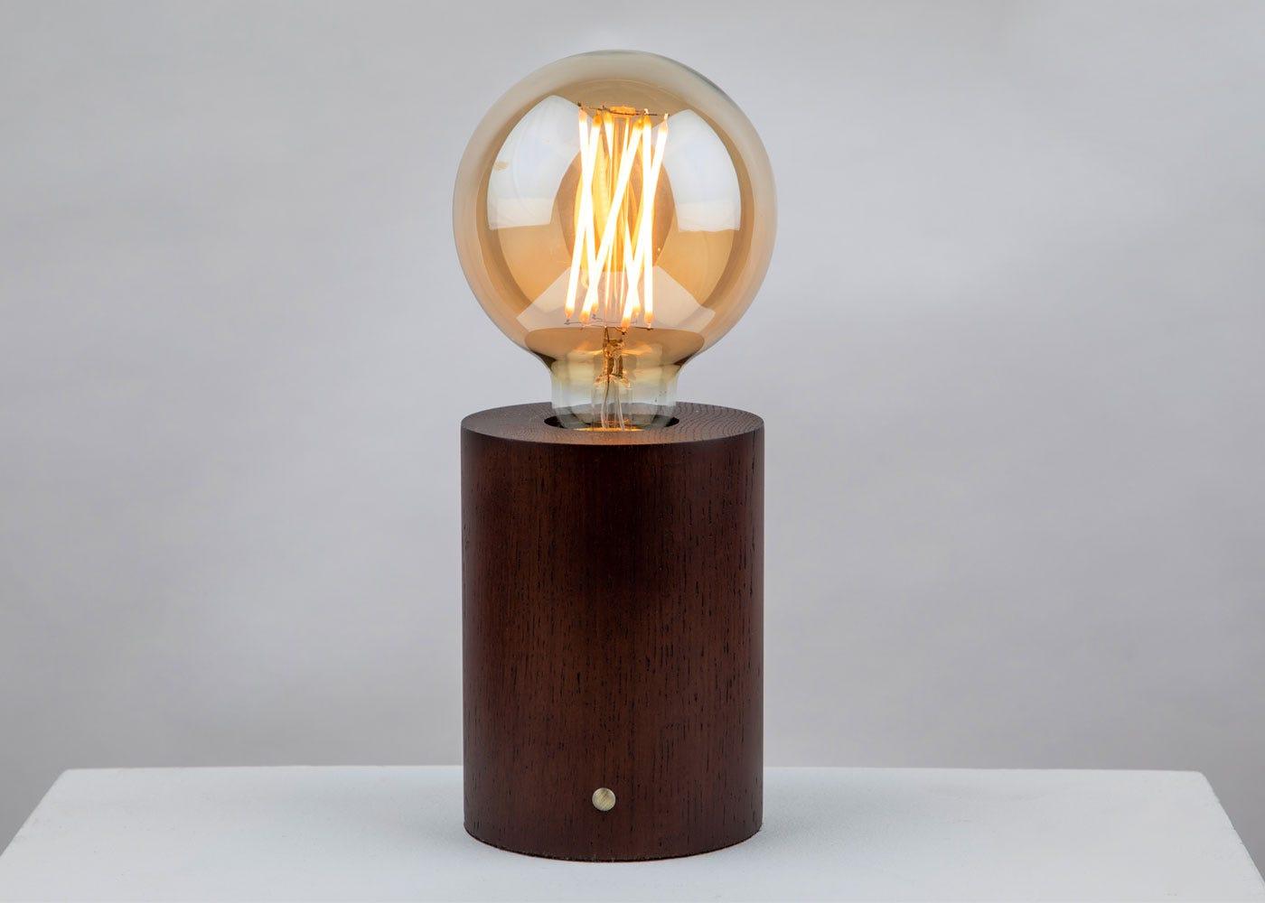Bristol Touch Lamp Walnut - On