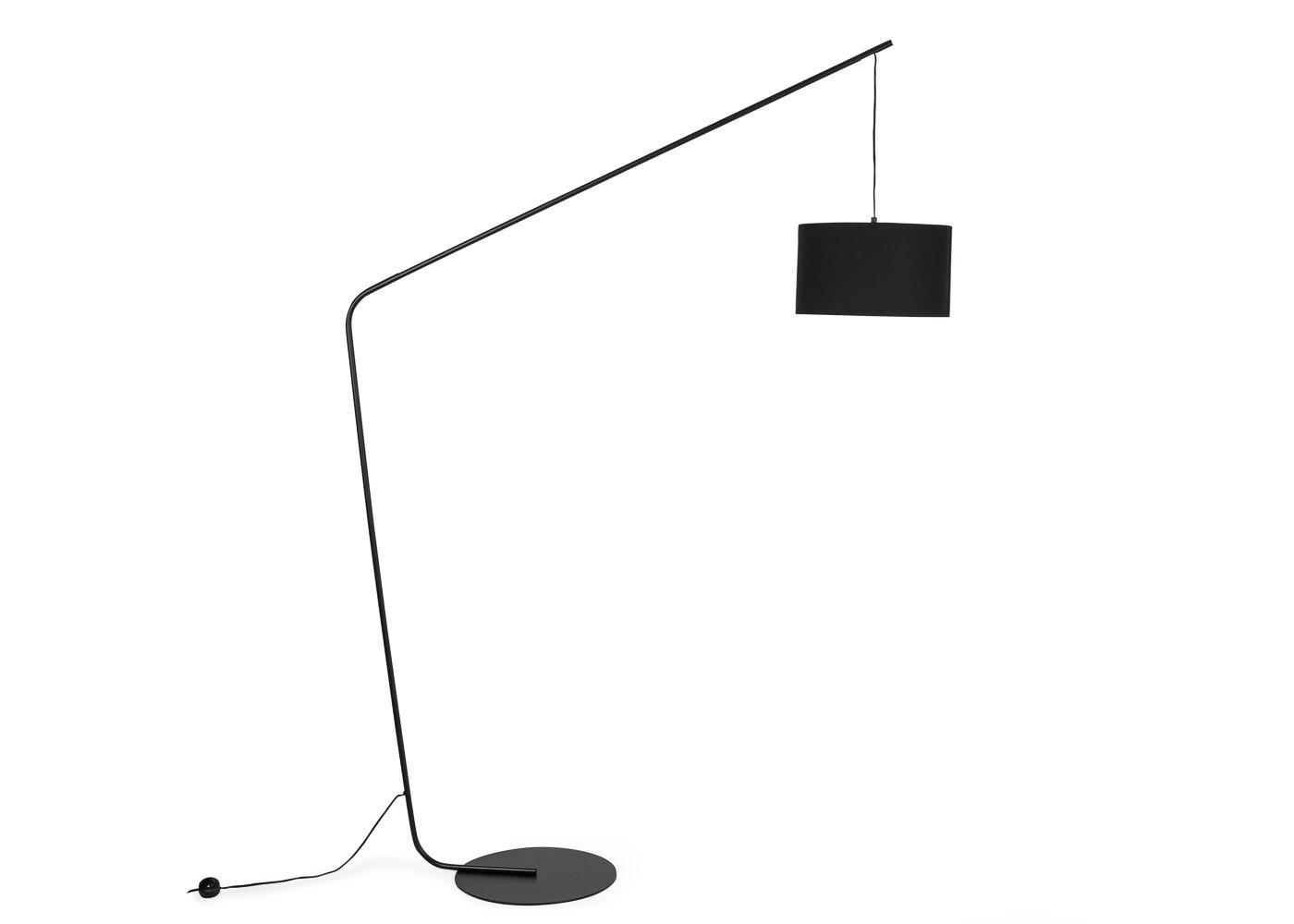As shown: Manhattan Floor Lamp Black