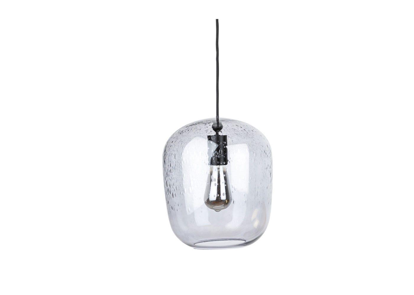 Bubble Glass Pendant Smoke small