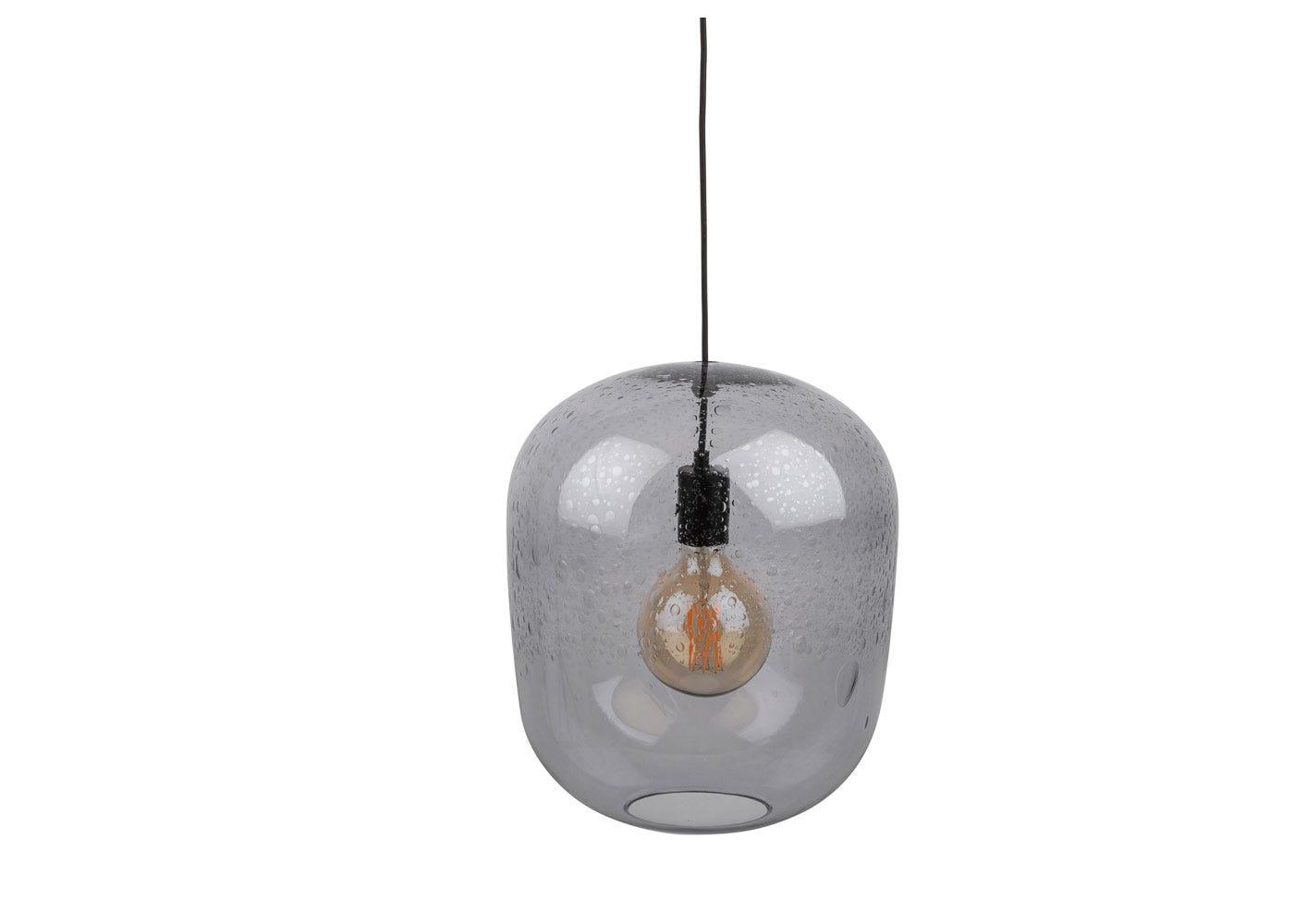 Bubble Glass Pendant Smoke Large
