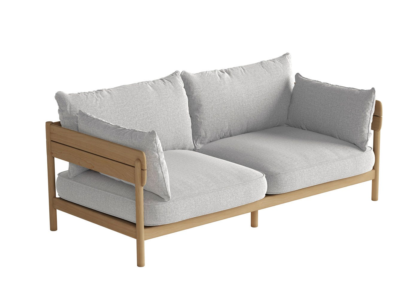 As shown: Tanso Outdoor 2 Seater Sofa