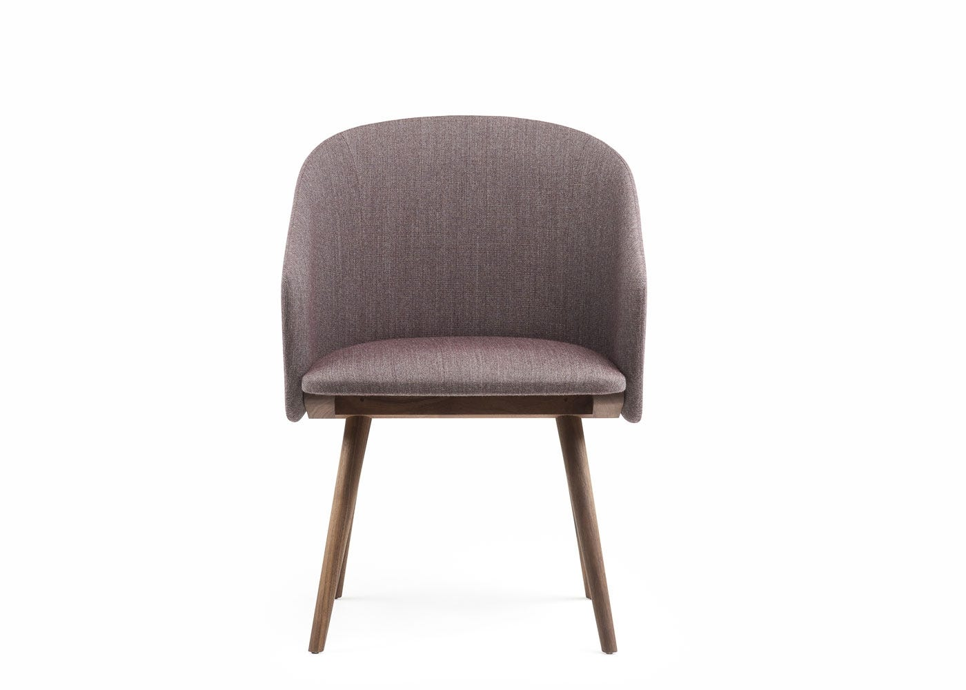 Saia dining chair upholstered in red foss - front view.