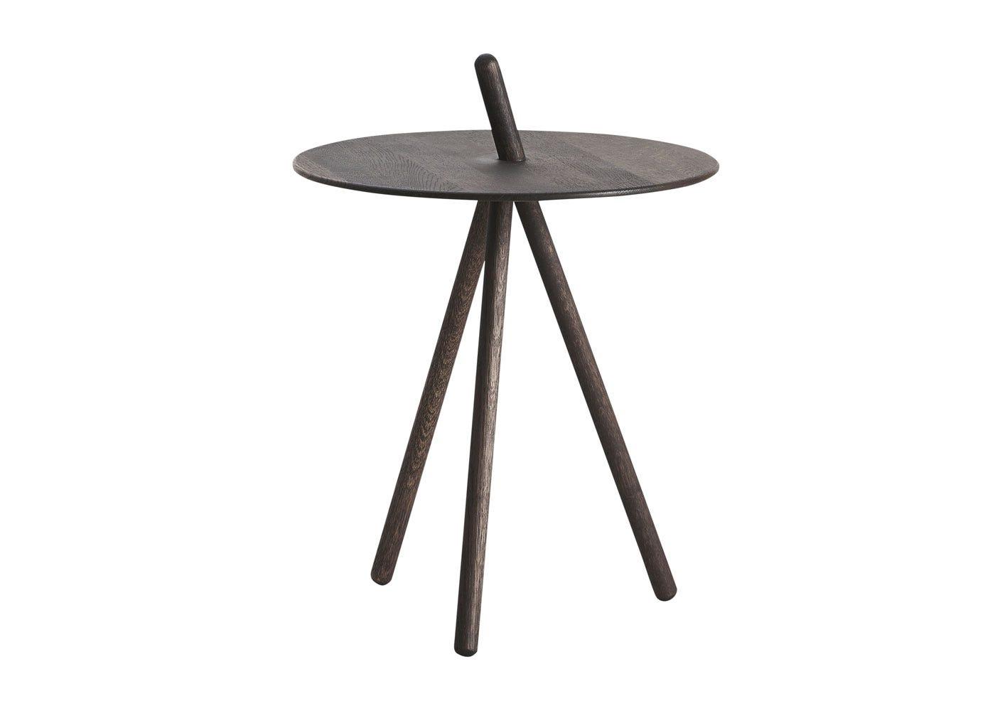 Come Here Side Table Black Oak