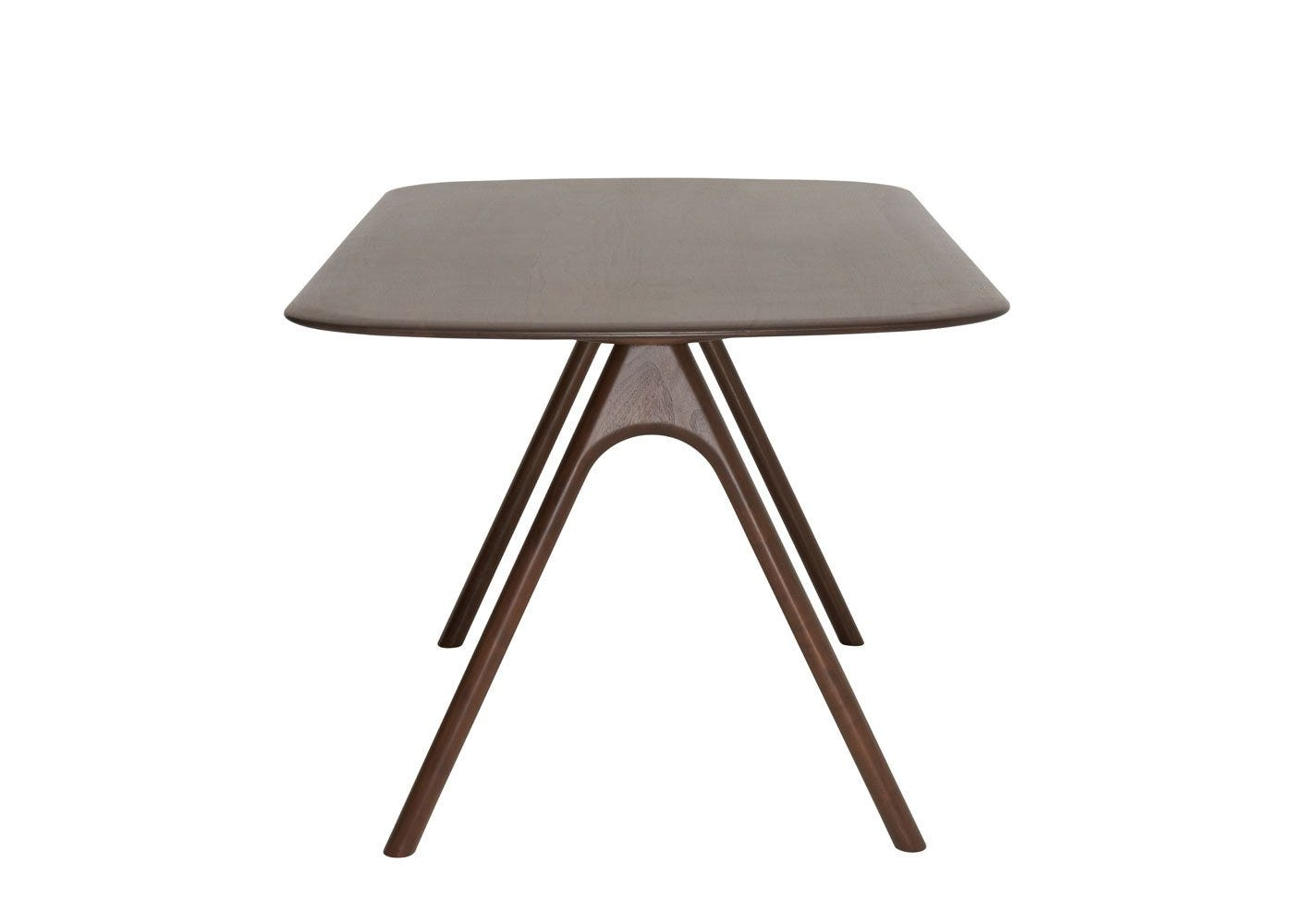 As shown: Corso Dining Table Walnut Medium -