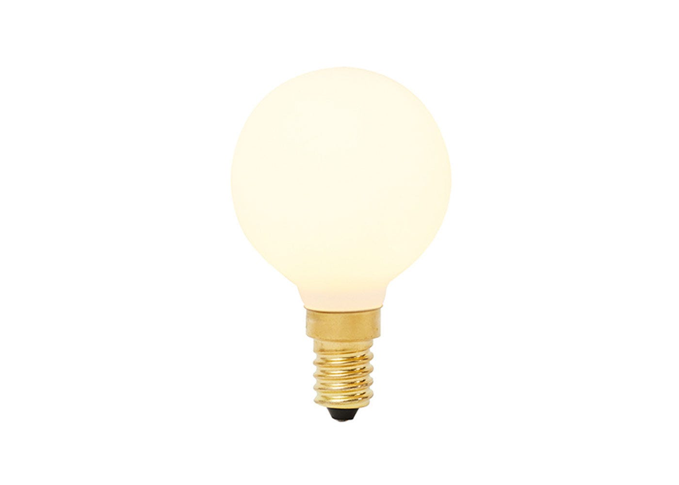 As shown: Sphere LED Bulb E27 Small - On