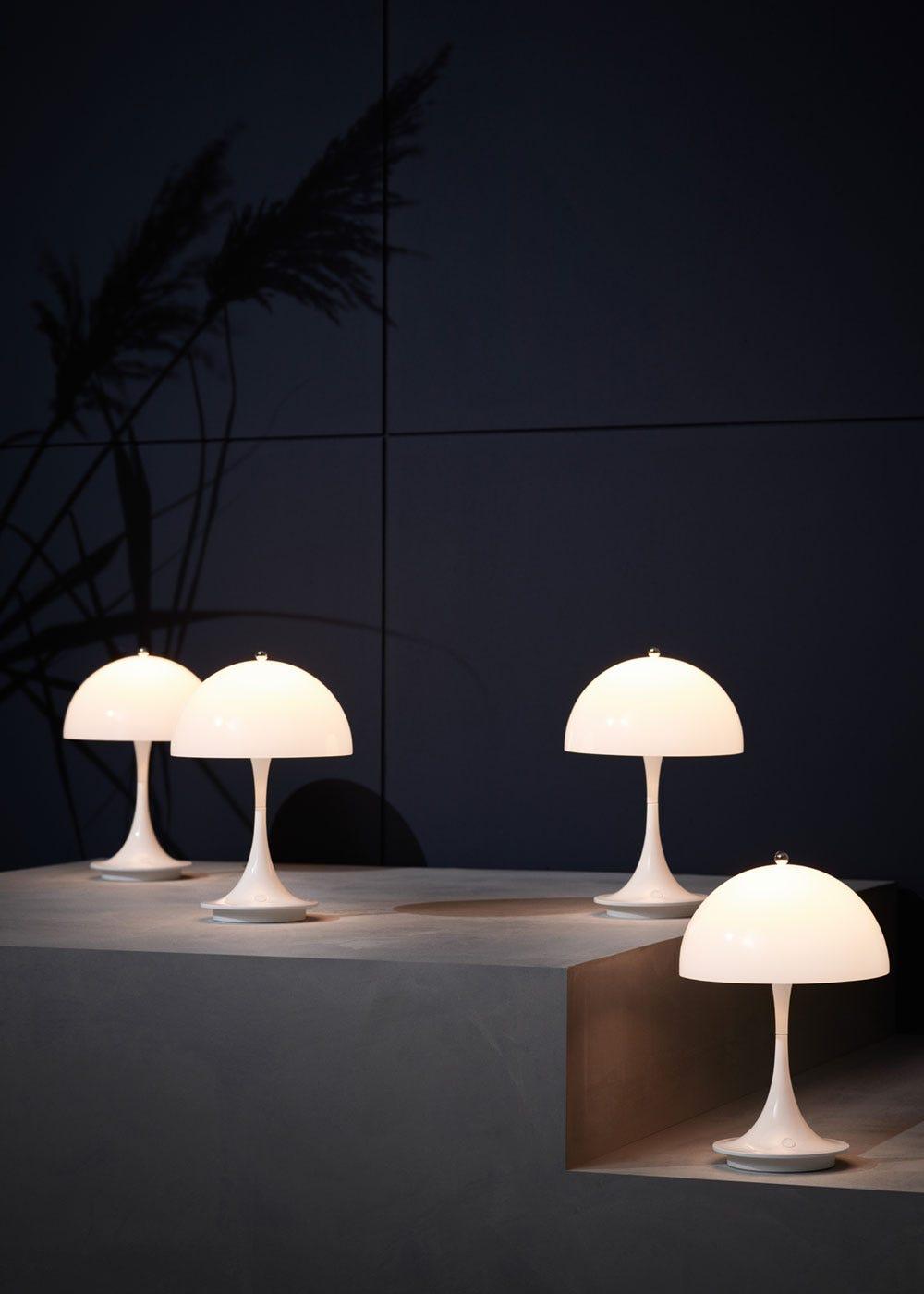 As Shown: Panthella Portable Table Lamp Opal