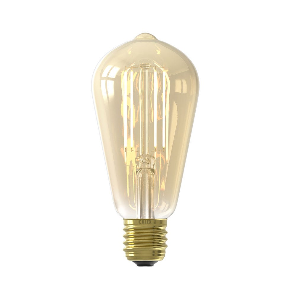 Smart Rustic LED Dimmable Bulb Gold 7W E27