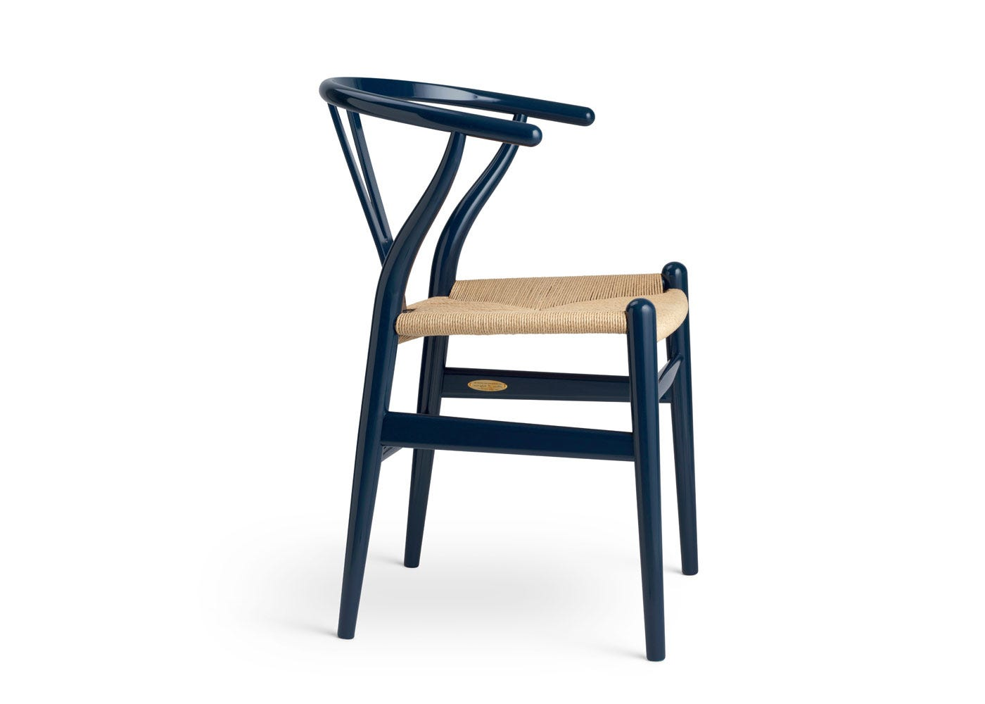 As Shown: Limited-Edition Birthday CH24 Wishbone Chair - Side View.