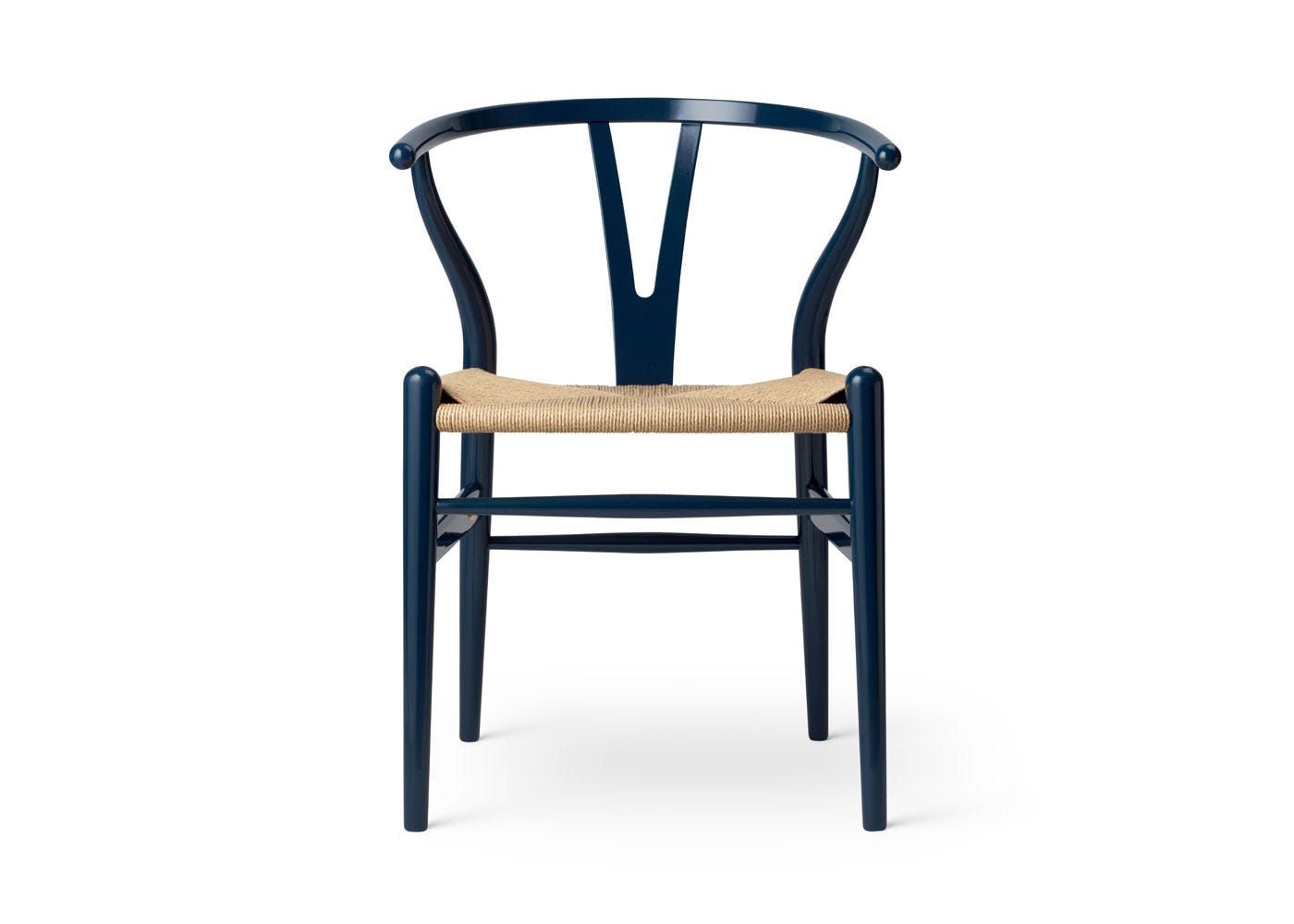 As Shown: Limited-Edition Birthday CH24 Wishbone Chair - Front View.