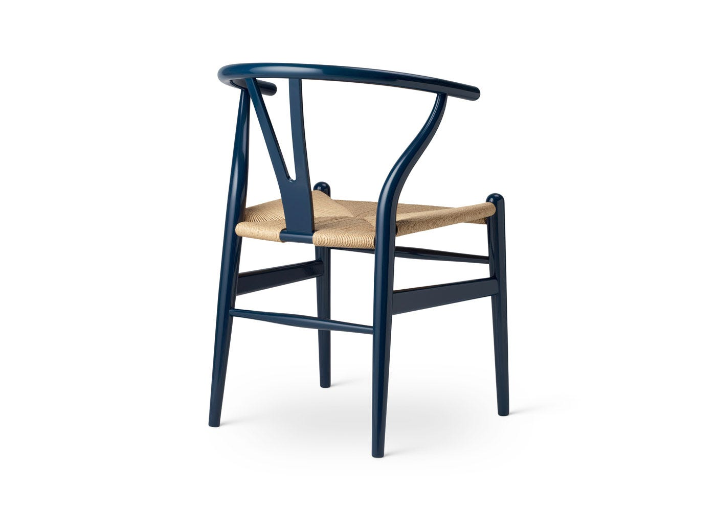 As Shown: Limited-Edition Birthday CH24 Wishbone Chair - Rear View.