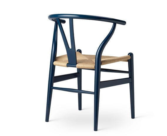 The Wishbone's Y-shaped back offers support and stability.