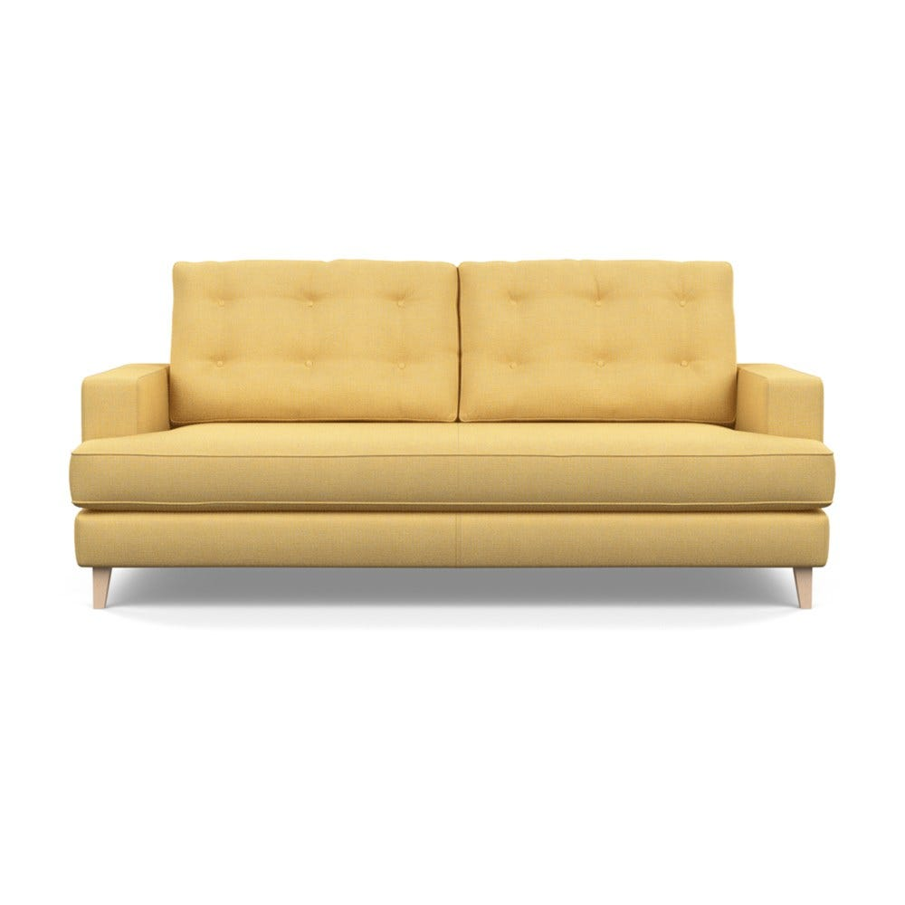Mistral 3 Seater Sofa Tejo Recycled Ochre Natural Feet