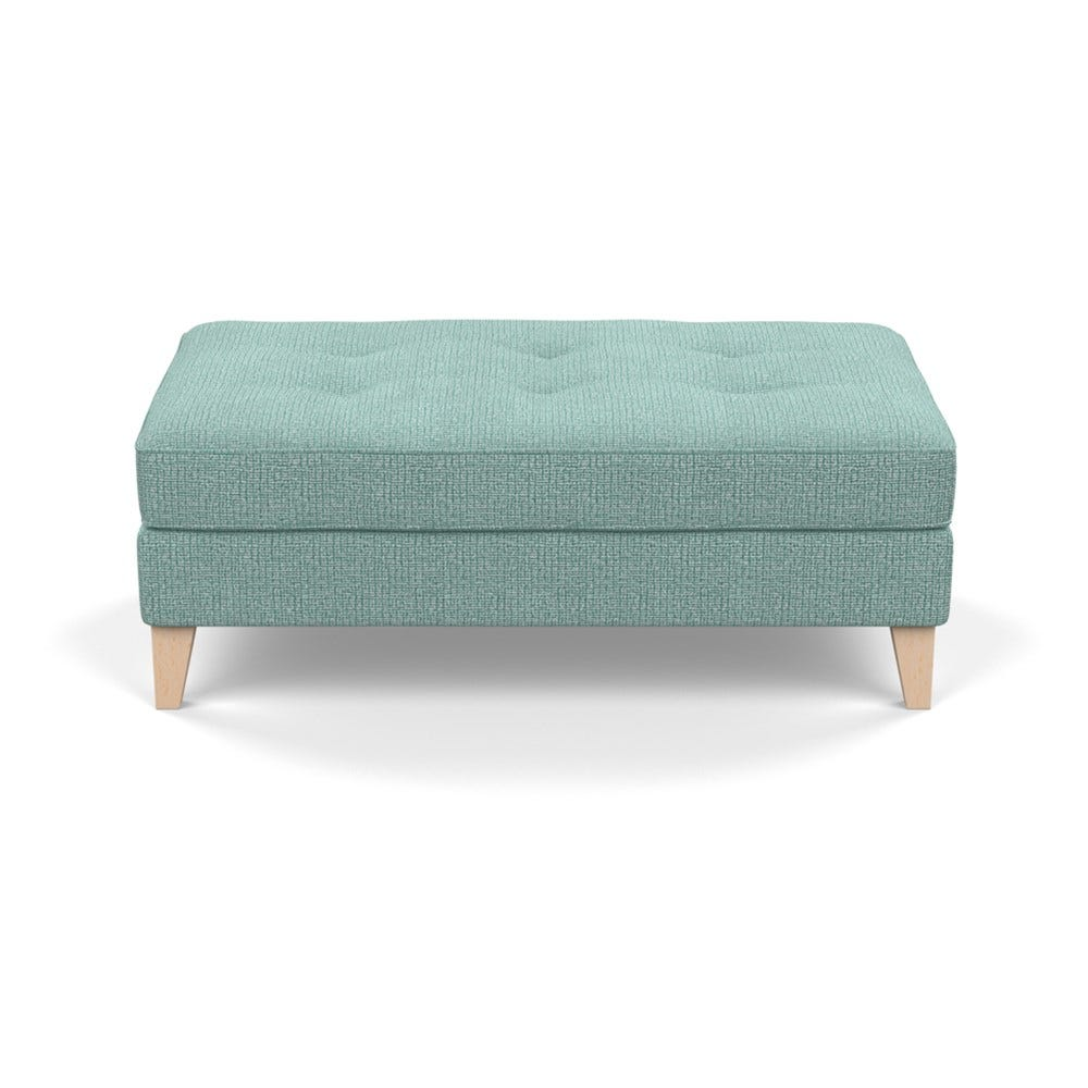 Mistral Footstool Tejo Recycled Teal Natural Feet