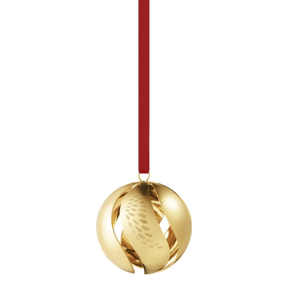 2018 Christmas Ball Gold Decoration