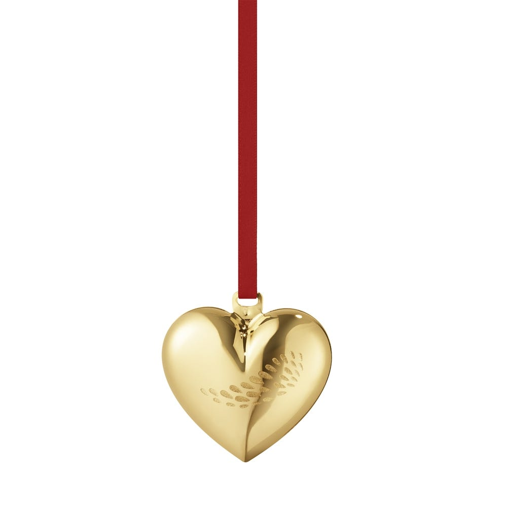 2018 Christmas Heart Gold Decoration