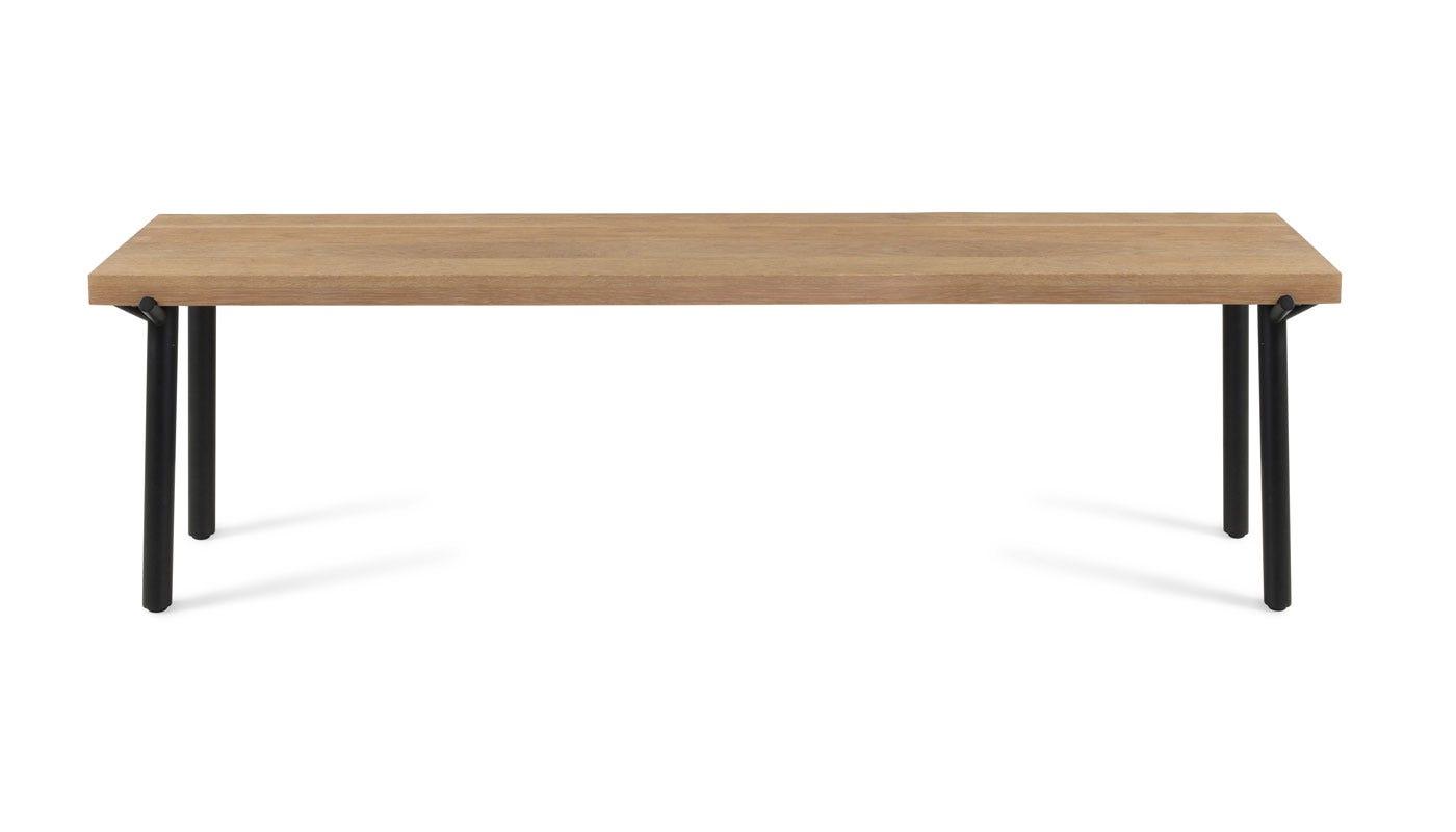 Blu Dot Branch Bench In Oak With Black Legs