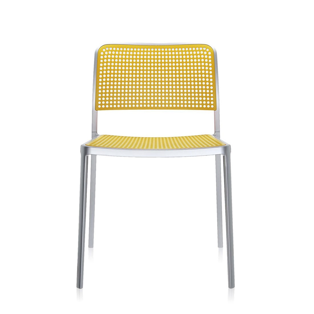 Audrey Side Chair Lacquered Alu Frame Yellow