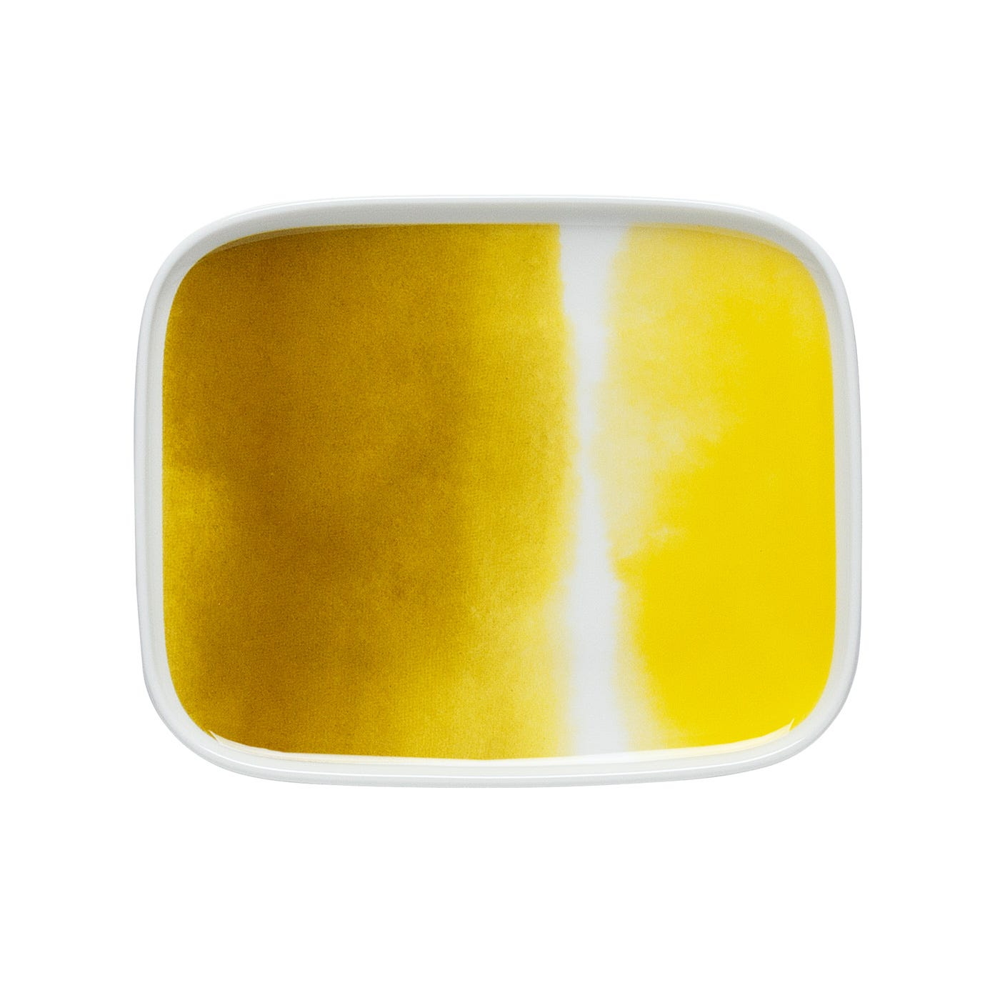 Weather Diary Plate White & Yellow