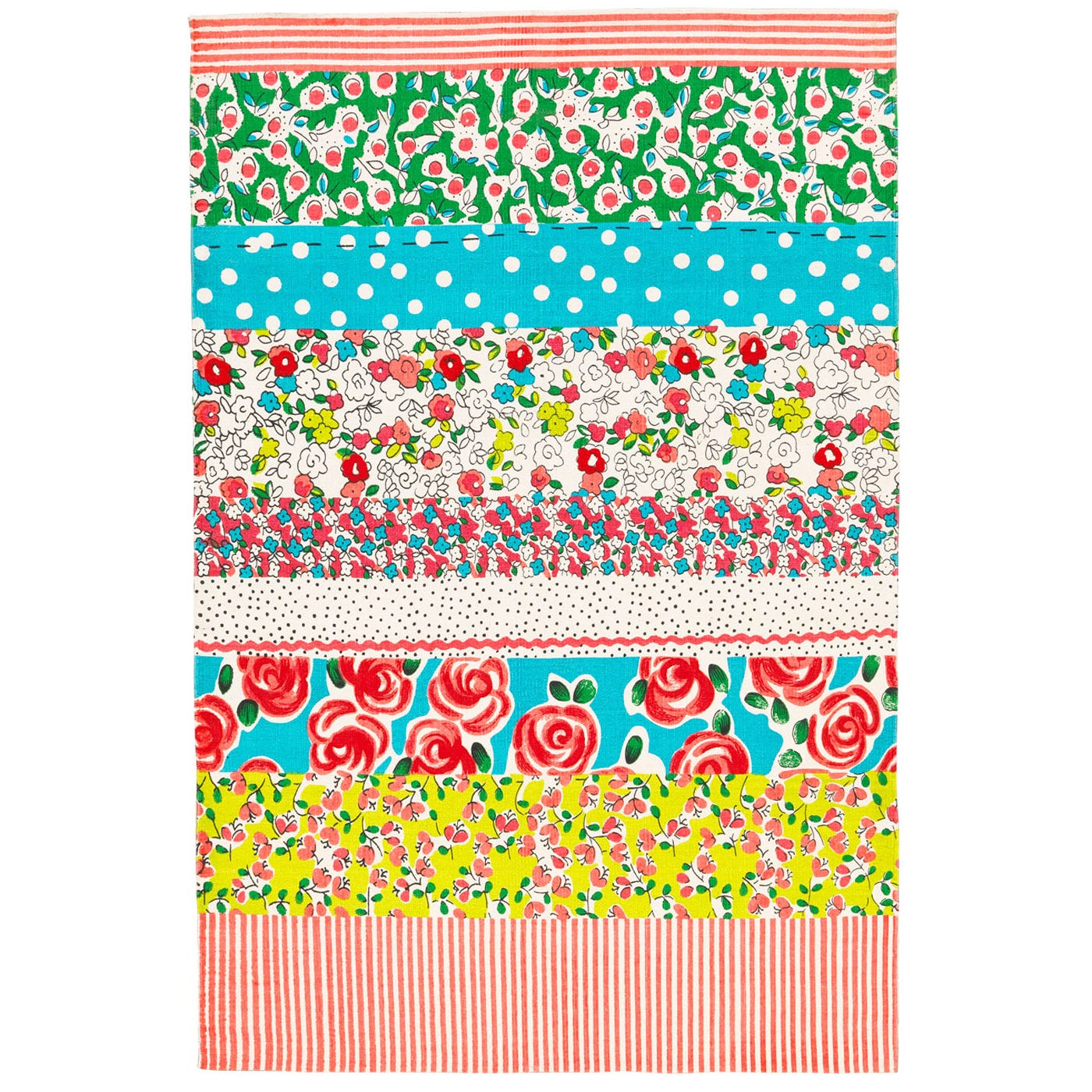 Designers Guild Daisy Stripe Peony Rug