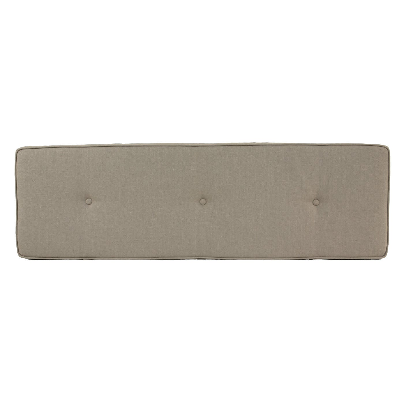Brunel Bench Cushion Wheat Beige Fabric