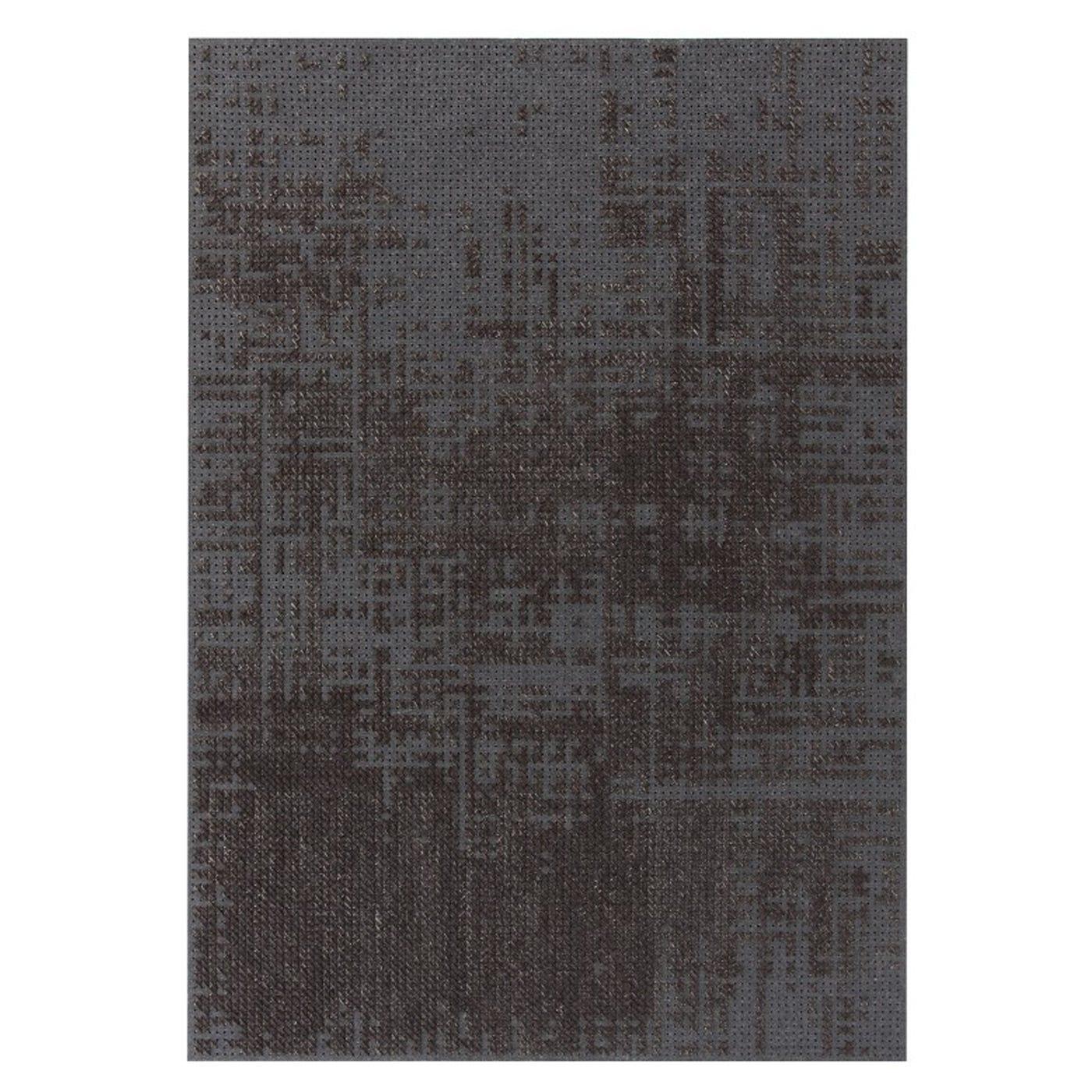 Canevas Abstract Charcoal Rug