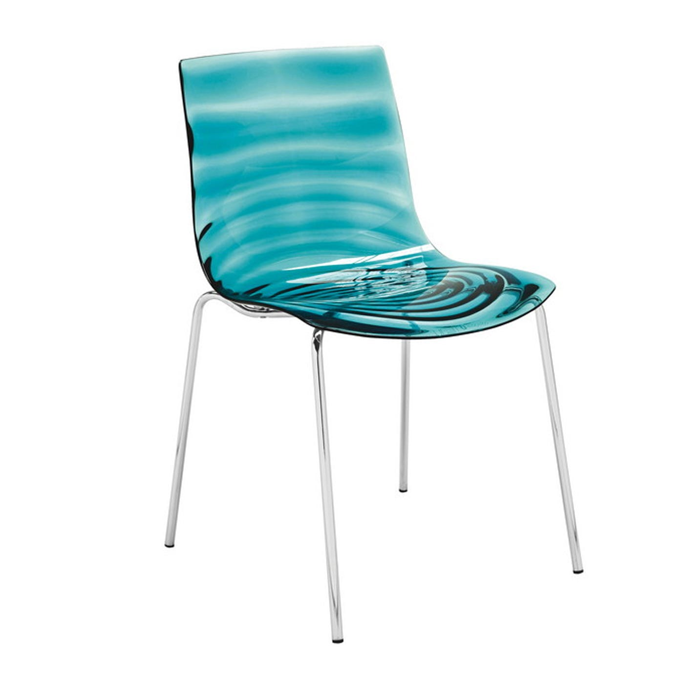L'eau Dining Chair Aqua Blue cm Cs/1273 - Warehouse Sale