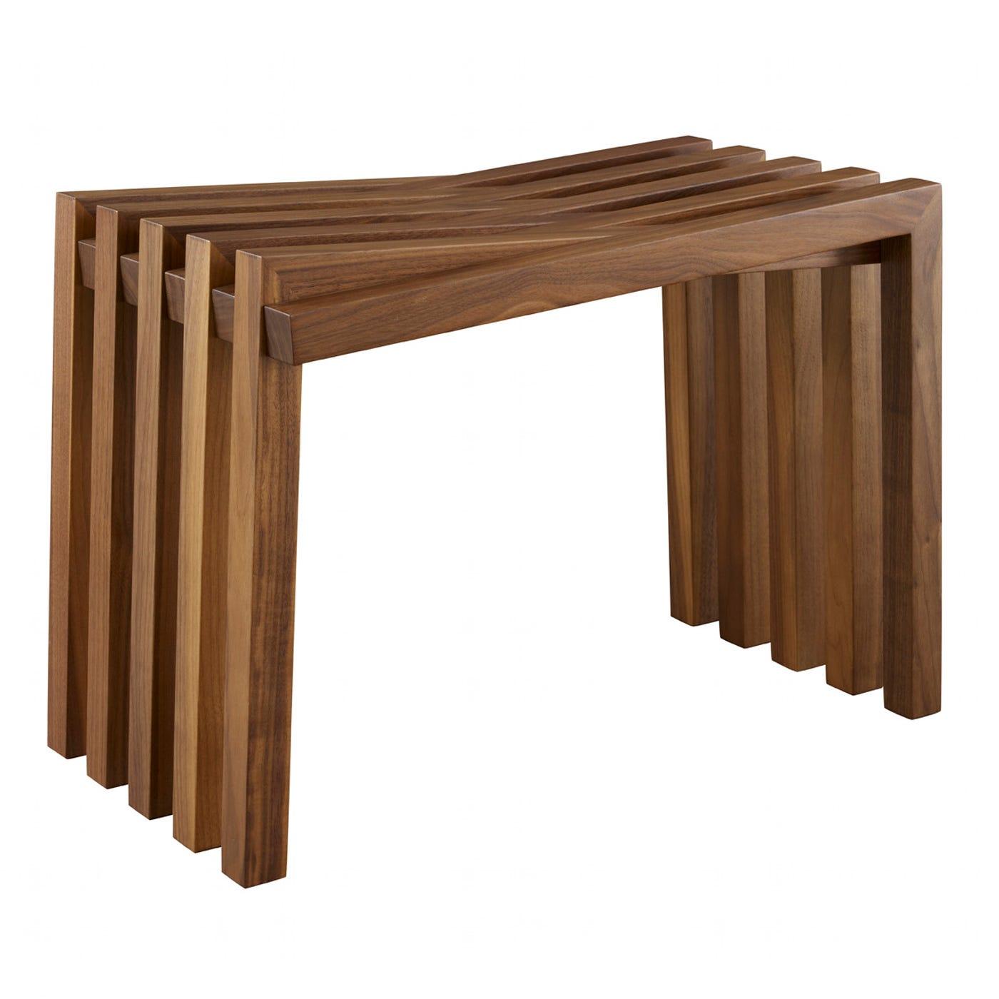 10 Vagues Side Table/Stool Walnut