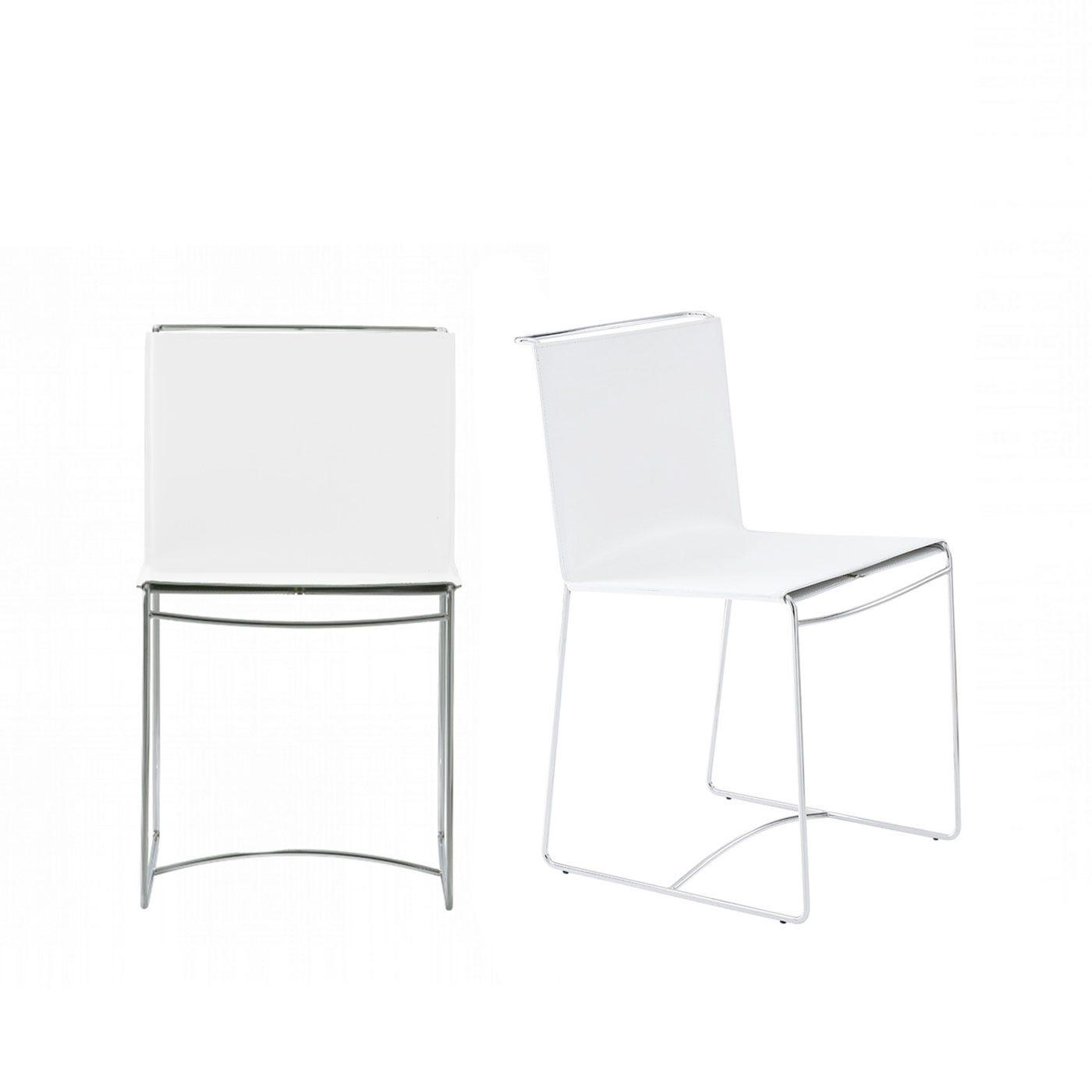 Ligne Roset Fil Set of 2 Dining Chairs White Syndreme