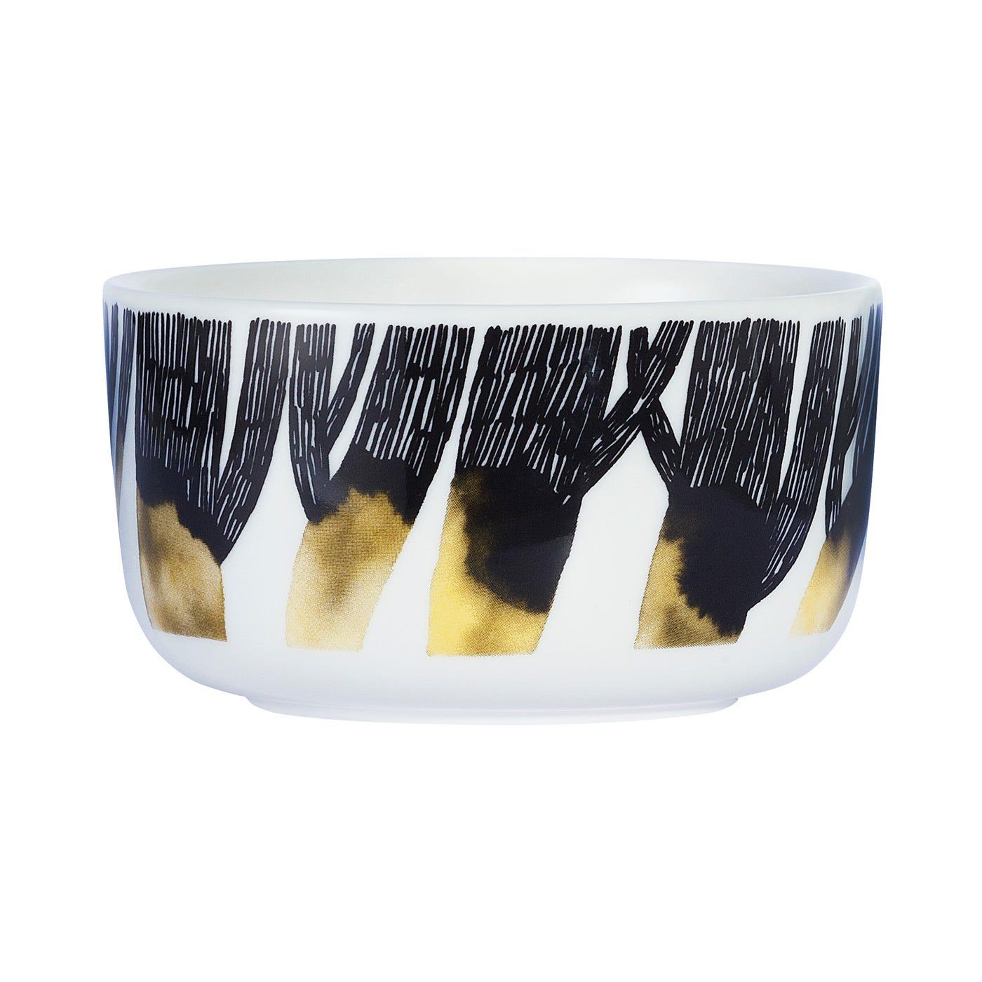 Marimekko Weather Diary White Black Yellow Bowl