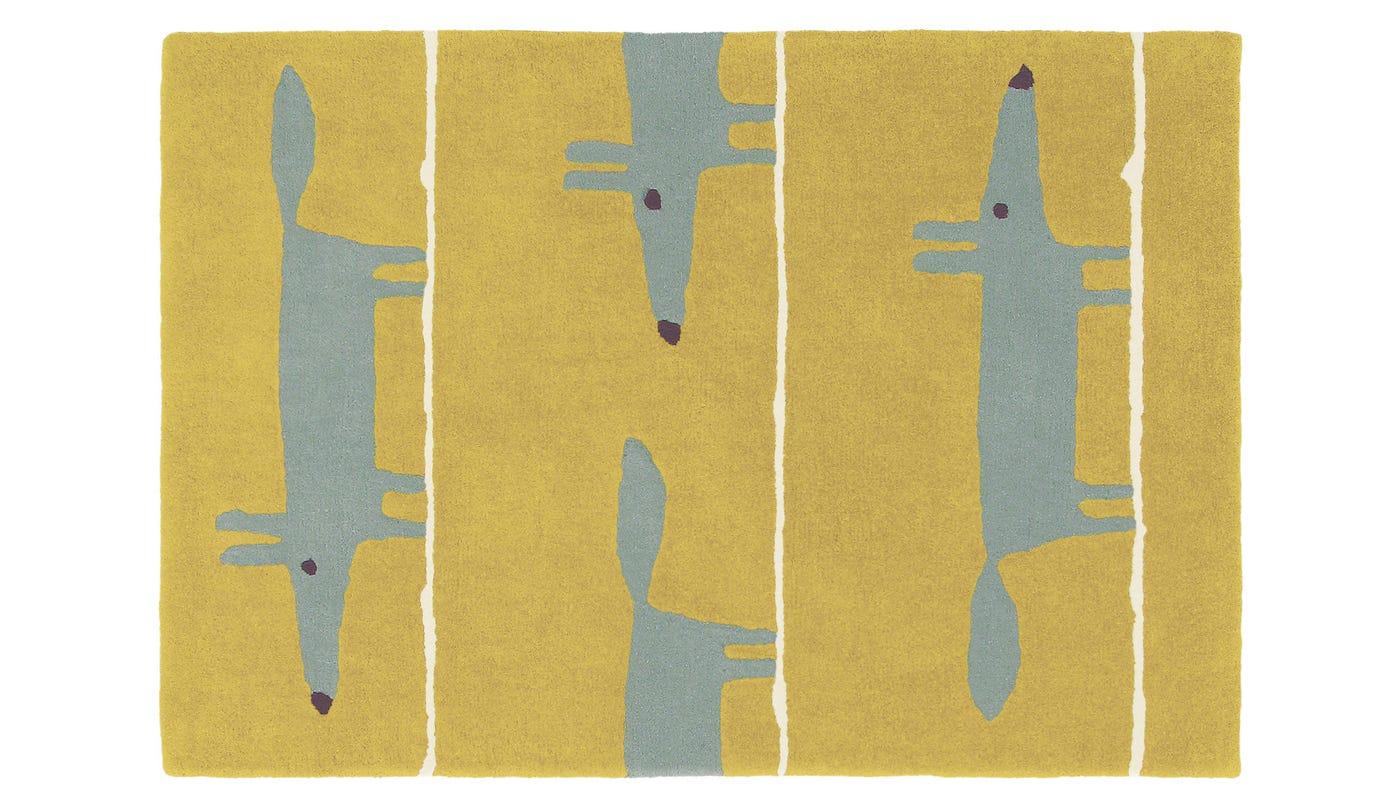 Scion Mr Fox Rug 90 x 150cm Mustard