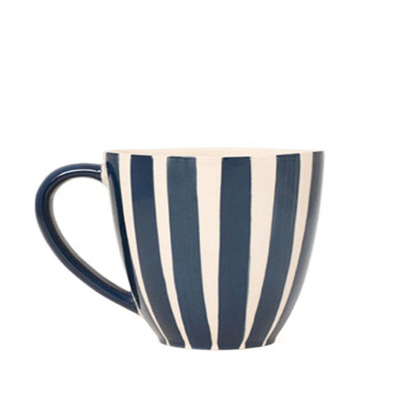 Dark Blue Stripe Mug