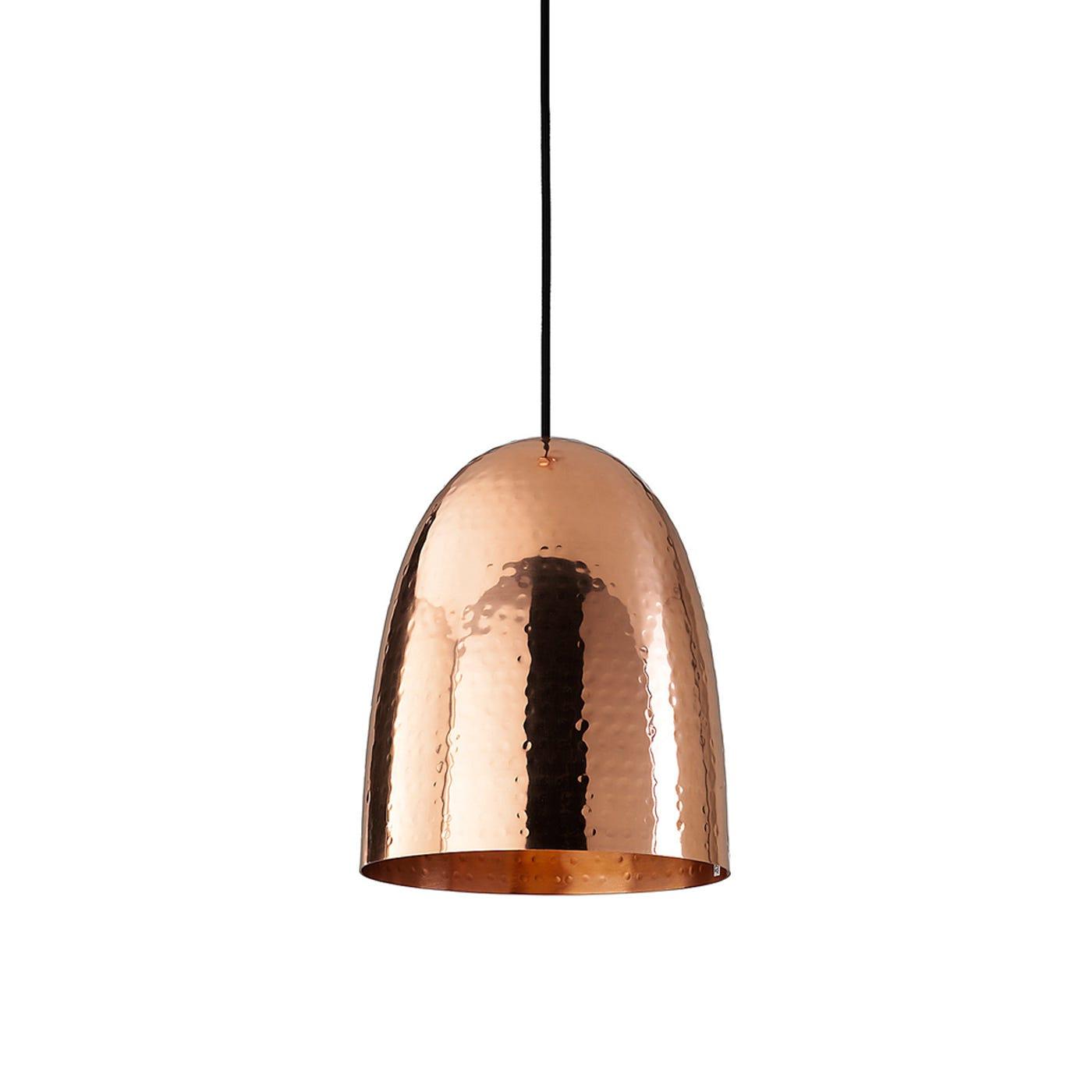 Stanley Hammered Pendant Large Copper