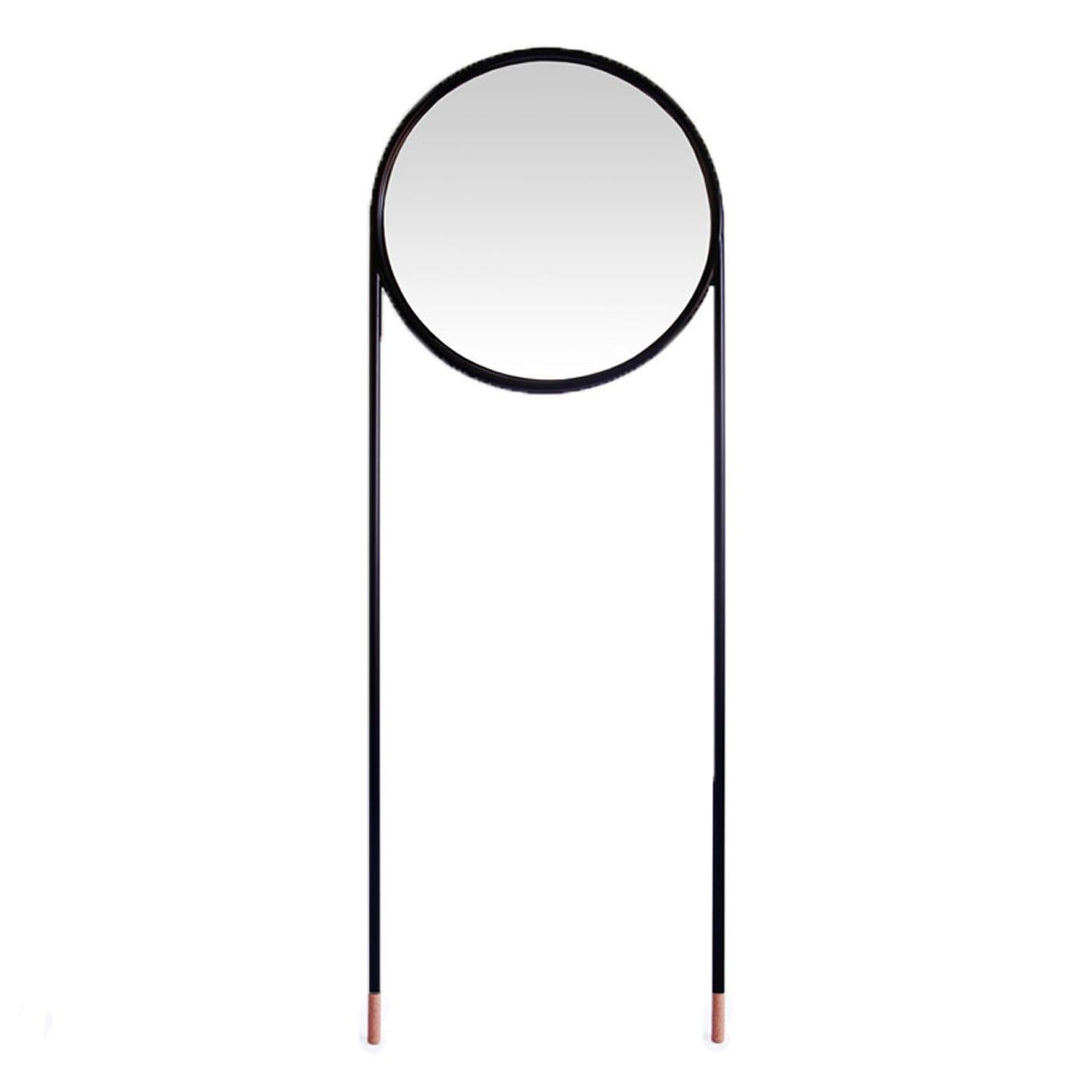 Omelette-Ed Stilts Circular Black Leaner Mirror