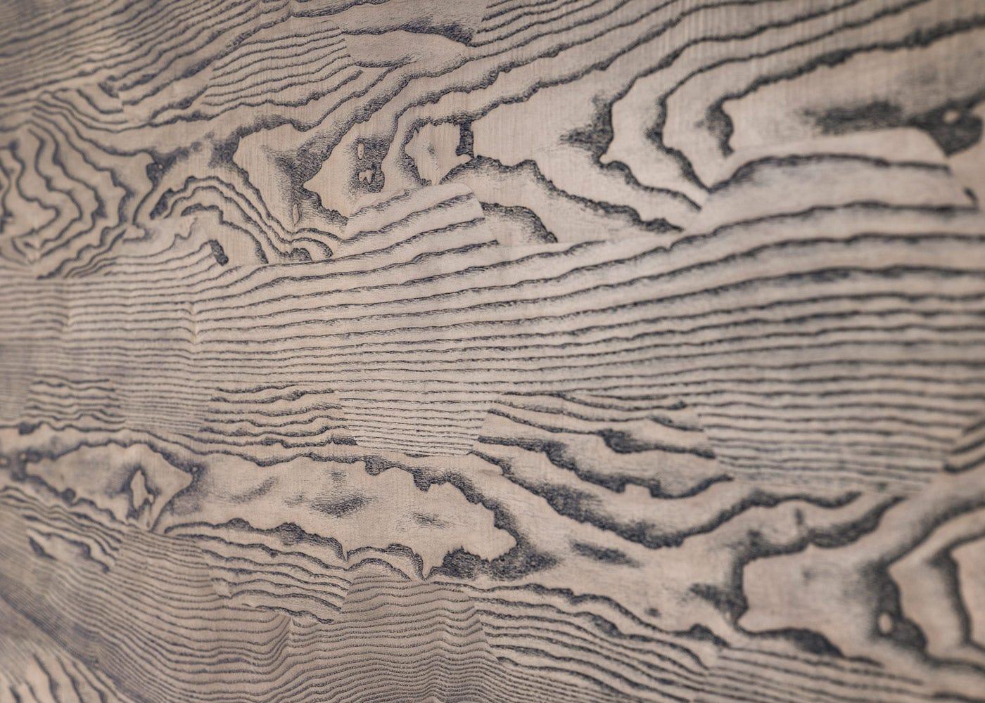 Tavli in black oiled ash
