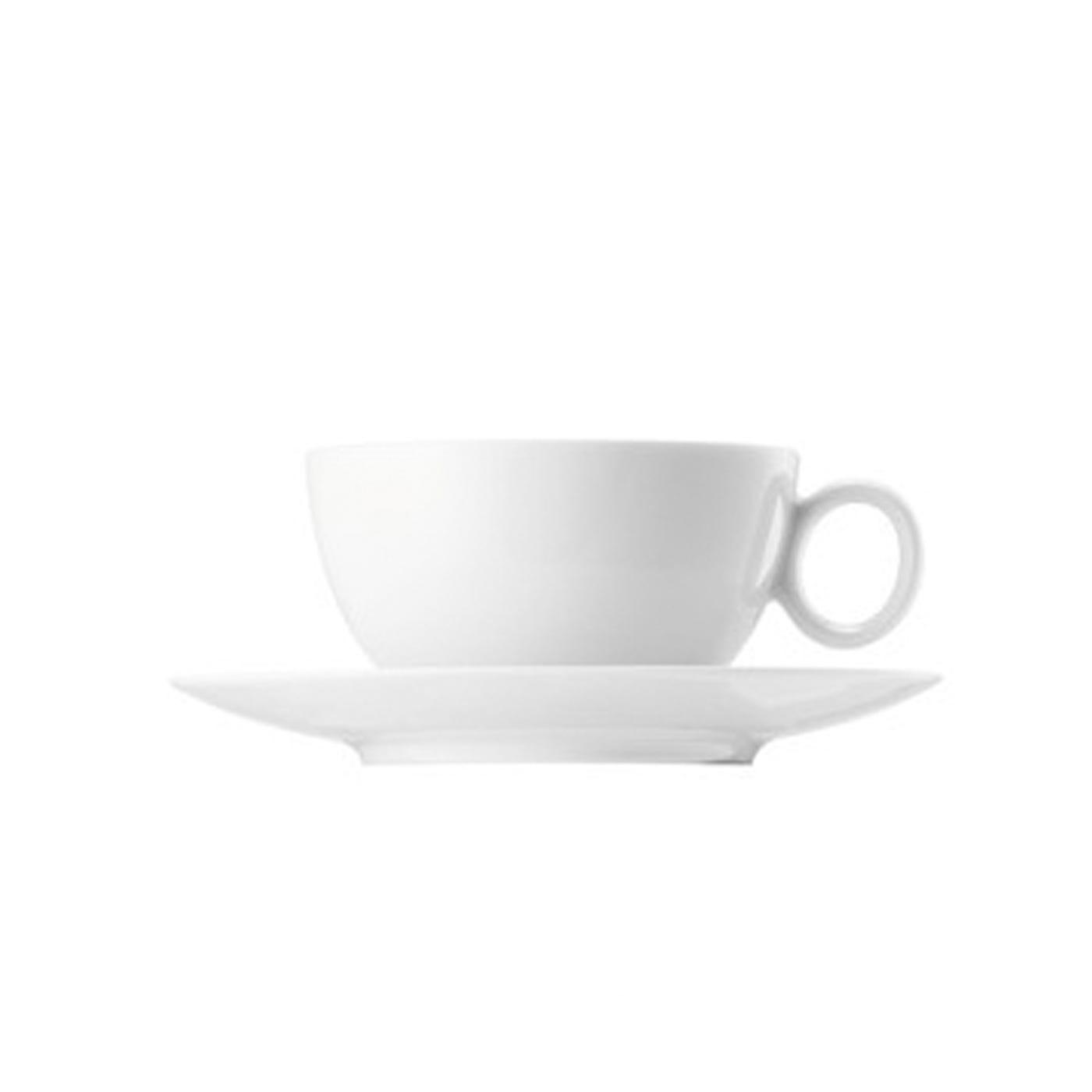 Loft White Breakfast Cup & Saucer