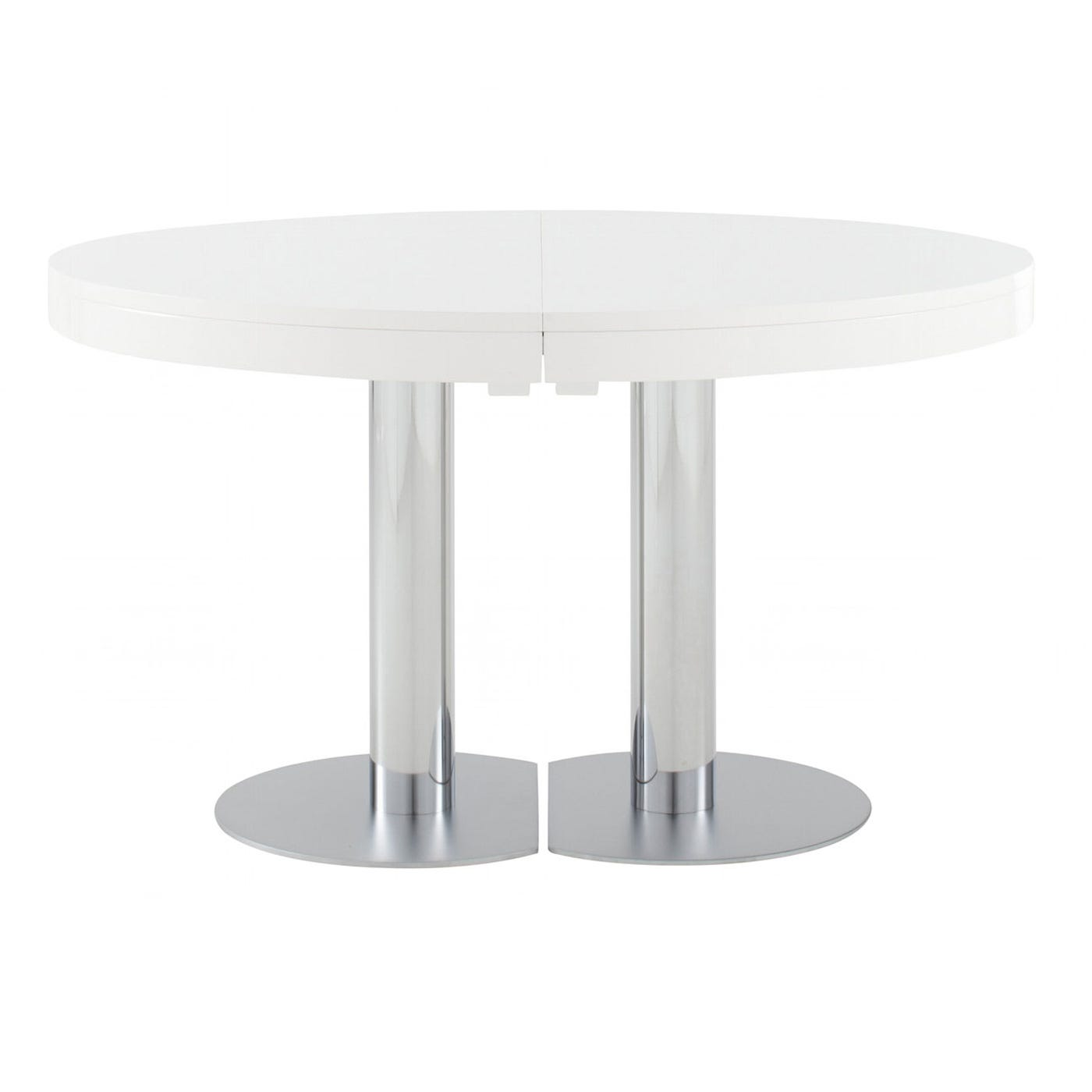 Craft 2 dining table 4 6 seater in white lacquer for White lacquer dining table