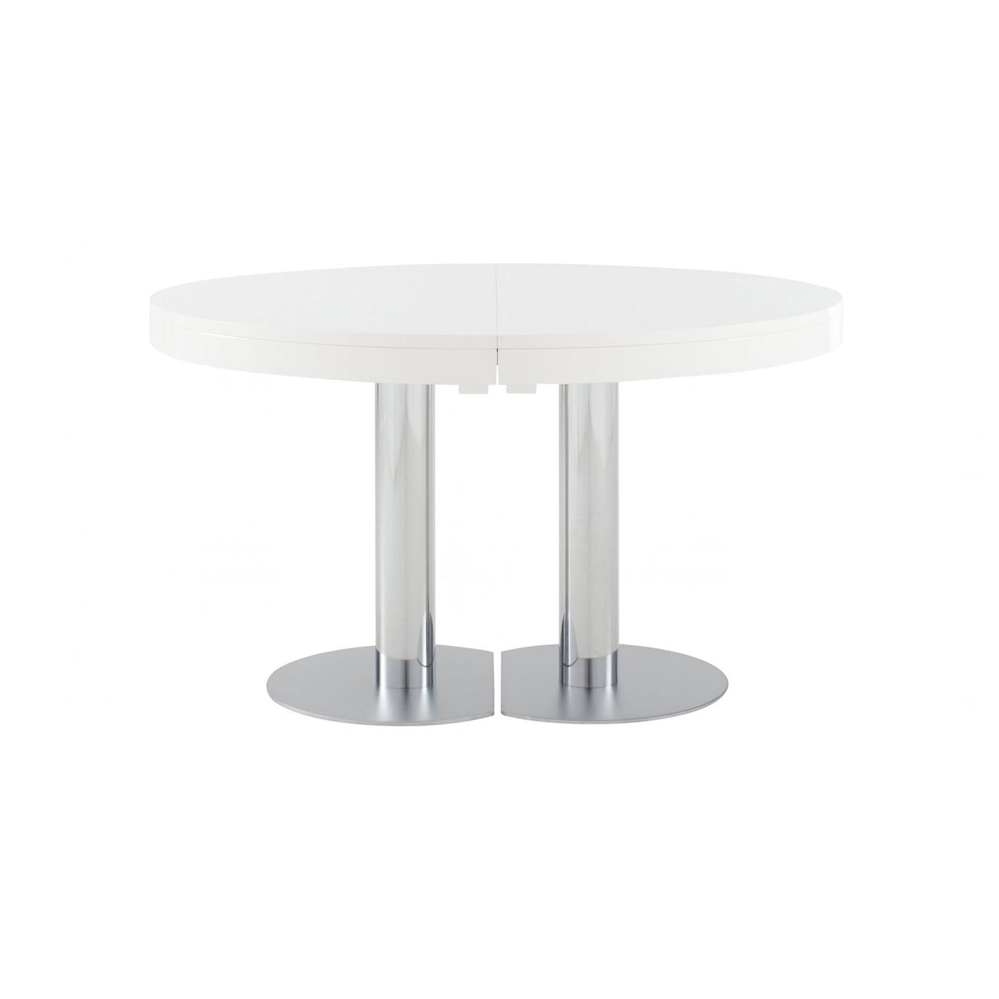 Craft 2 Dining Table 4-6 Seater In White Lacquer