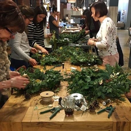 Christmas Wreath Workshop with The Flower Shop | Redbrick Mill | 1st December