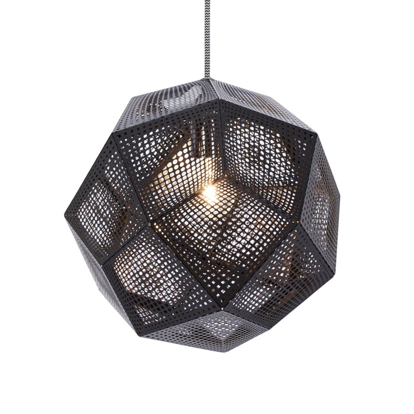 tom dixon etch pendant light standard black heals - Tom Dixon Lighting