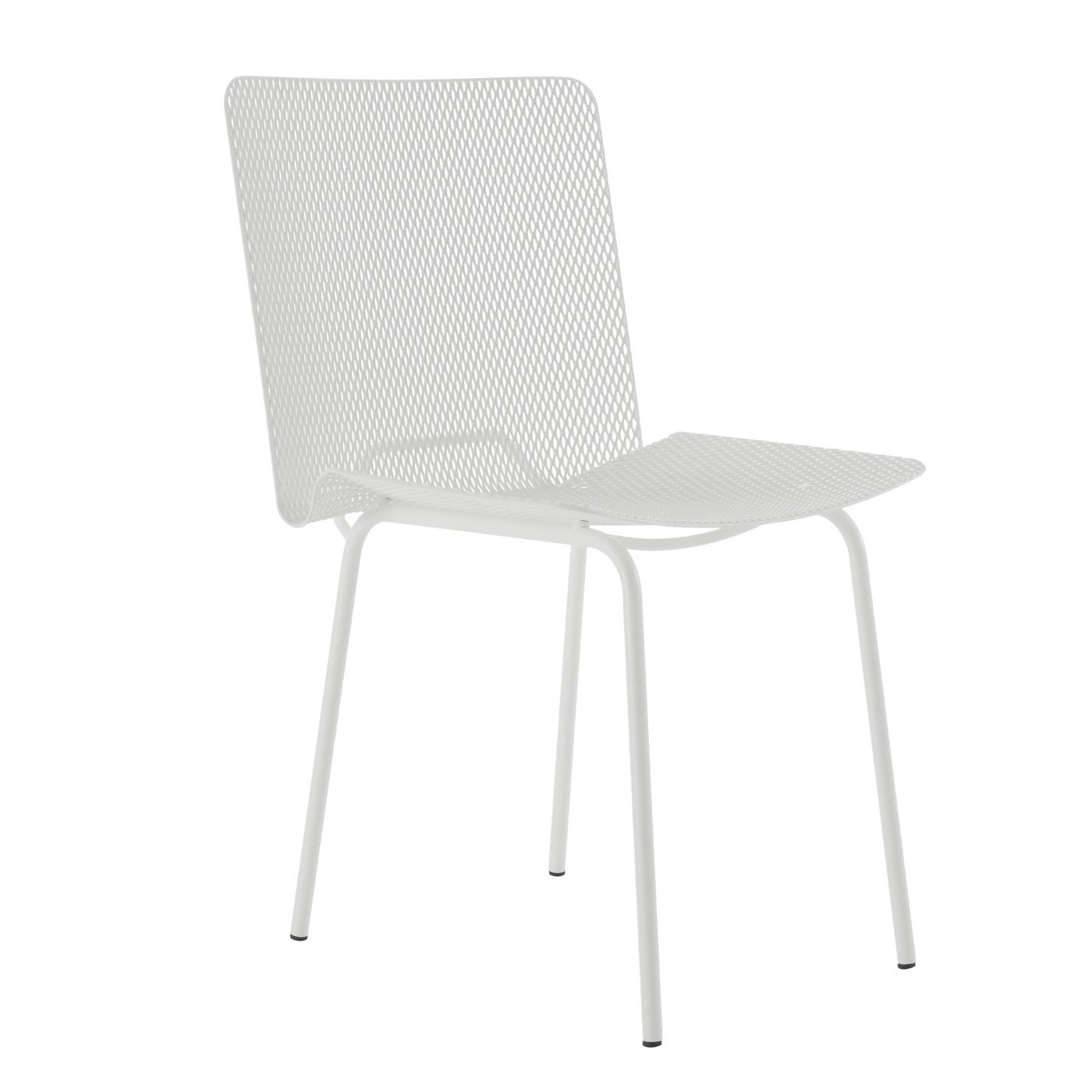 Grillage Set of 2 Chairs White