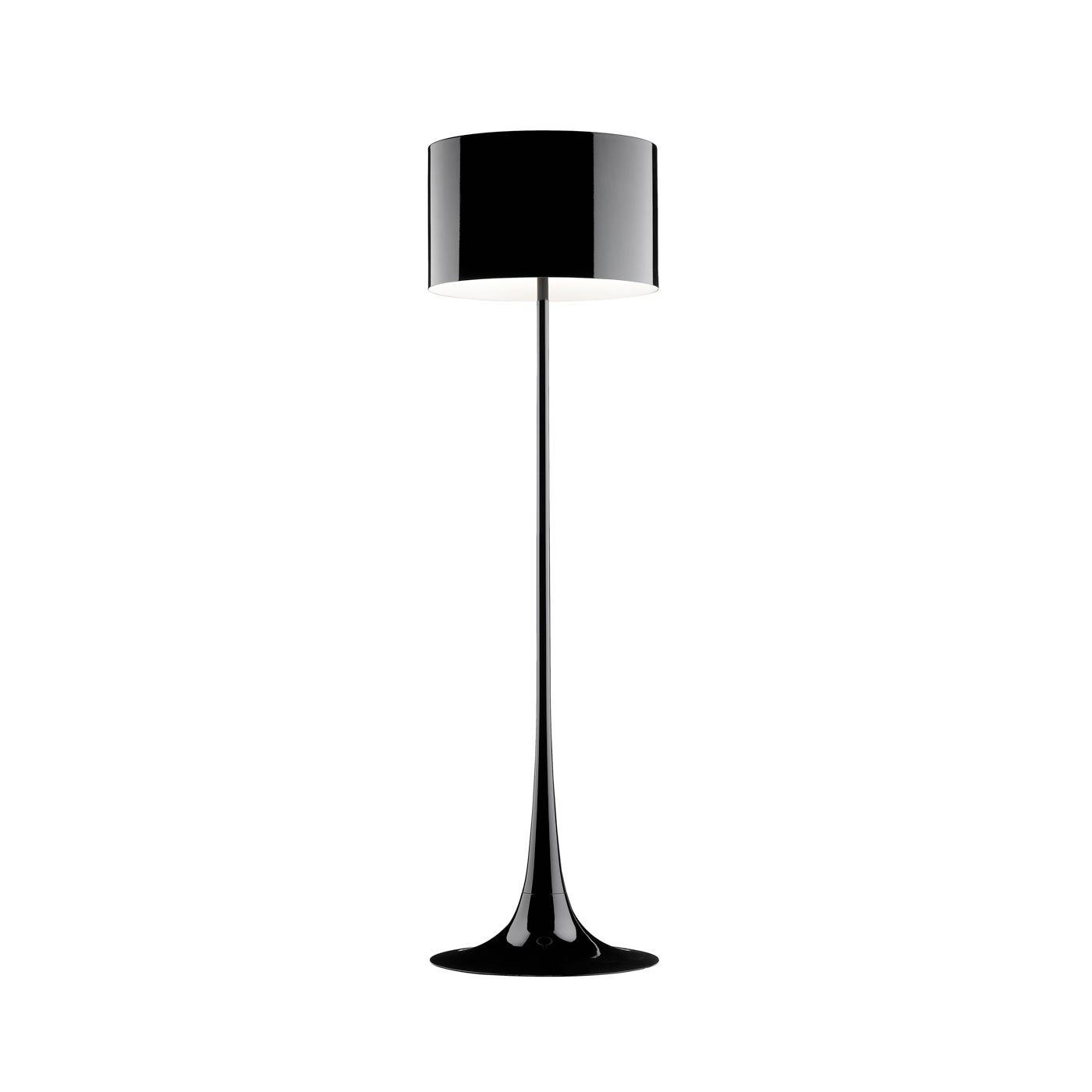 Spun Black Floor Lamp