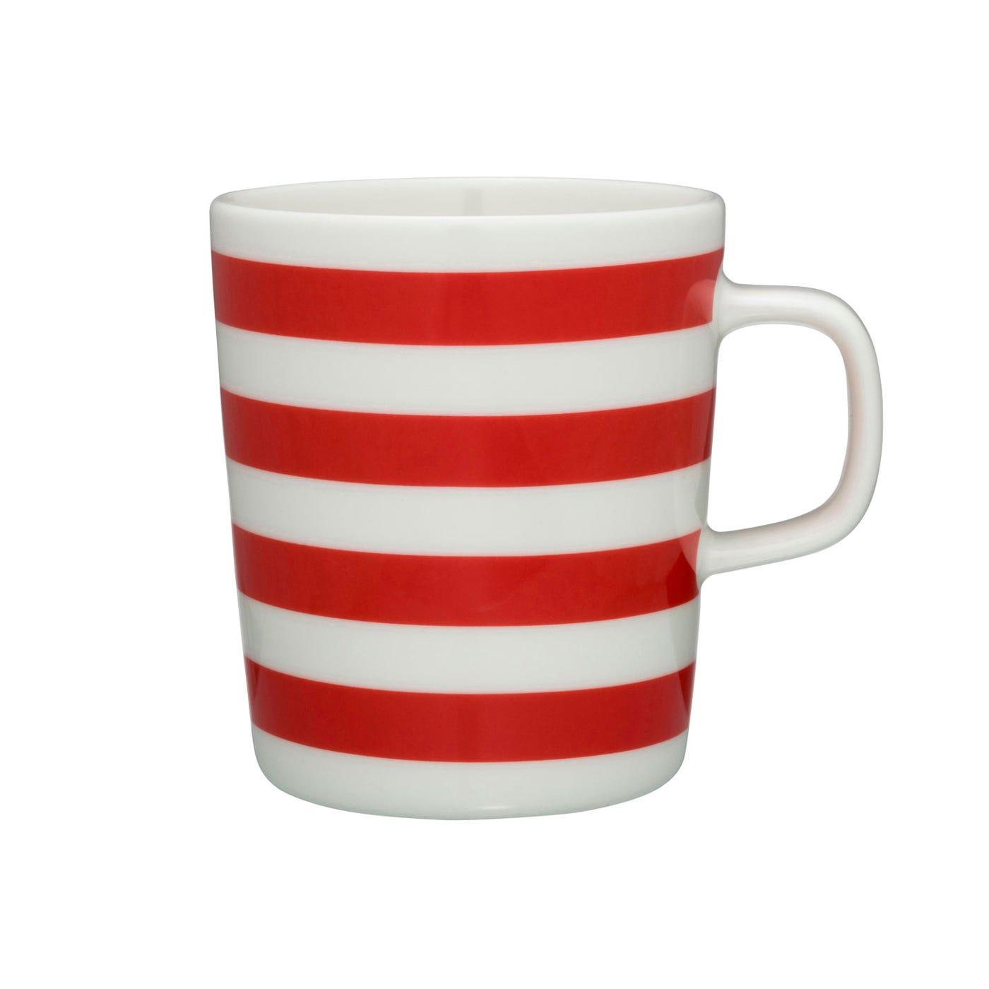 Marimekko Tasaraita Stripe Mug Red