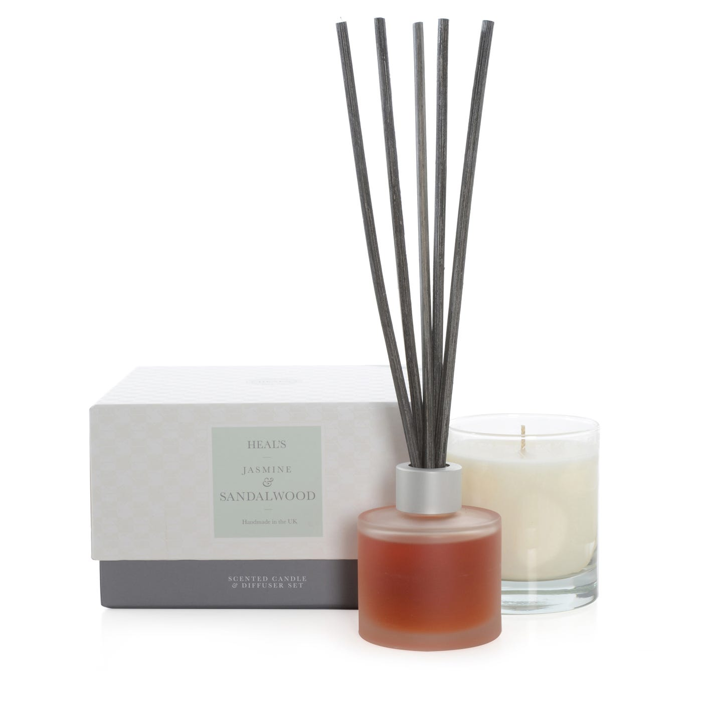 Jasmine & Sandalwood Candle And Diffuser Gift