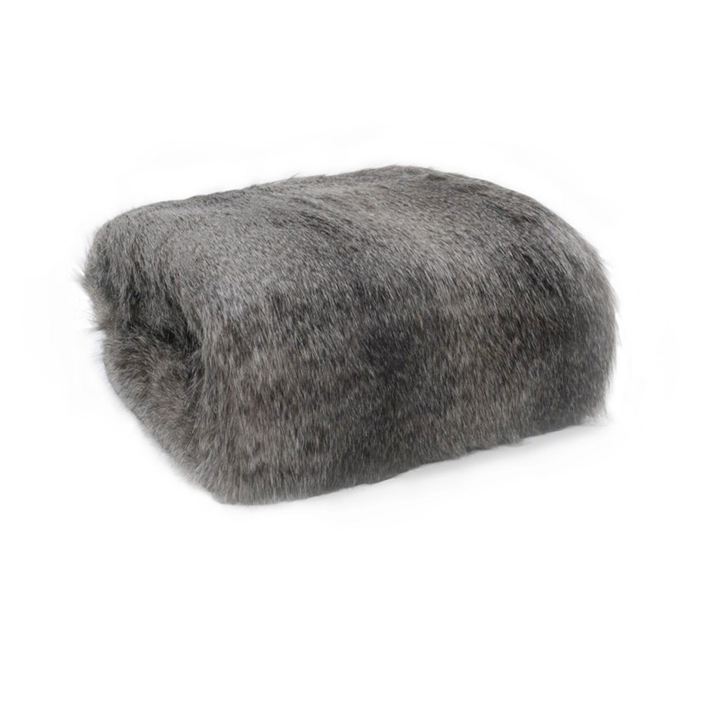Heal's Long Faux Fur Throw Grey