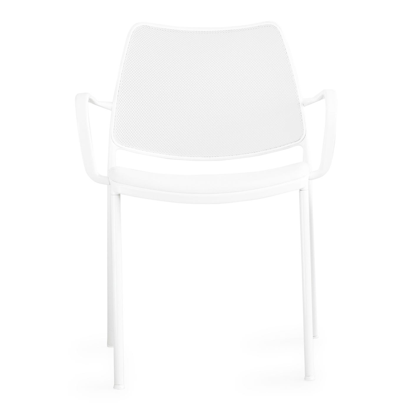 Gas Arm Chair Eco Leather White