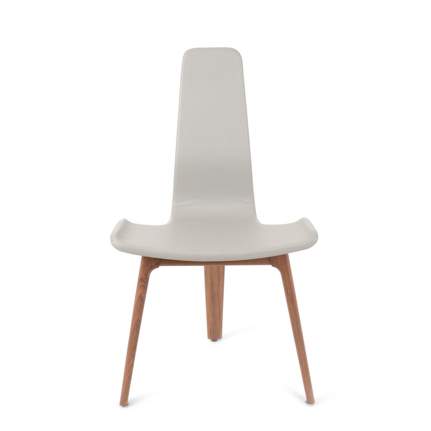 Matthew Hilton Tapas Upholstered Dining Chair Walnut And Fog